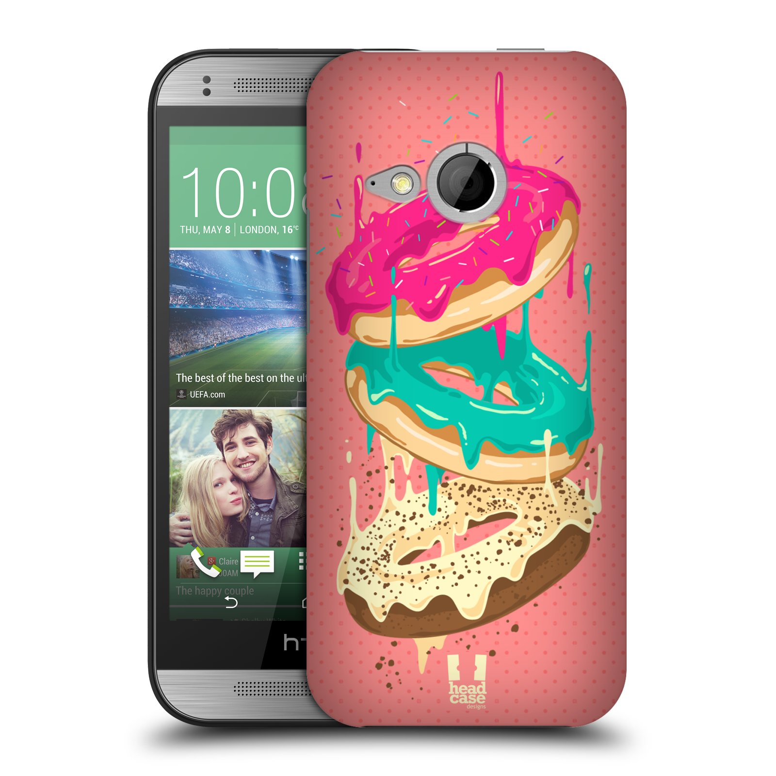 HEAD CASE DESIGNS DOUGHNUTS HARD BACK CASE FOR HTC ONE MINI 2