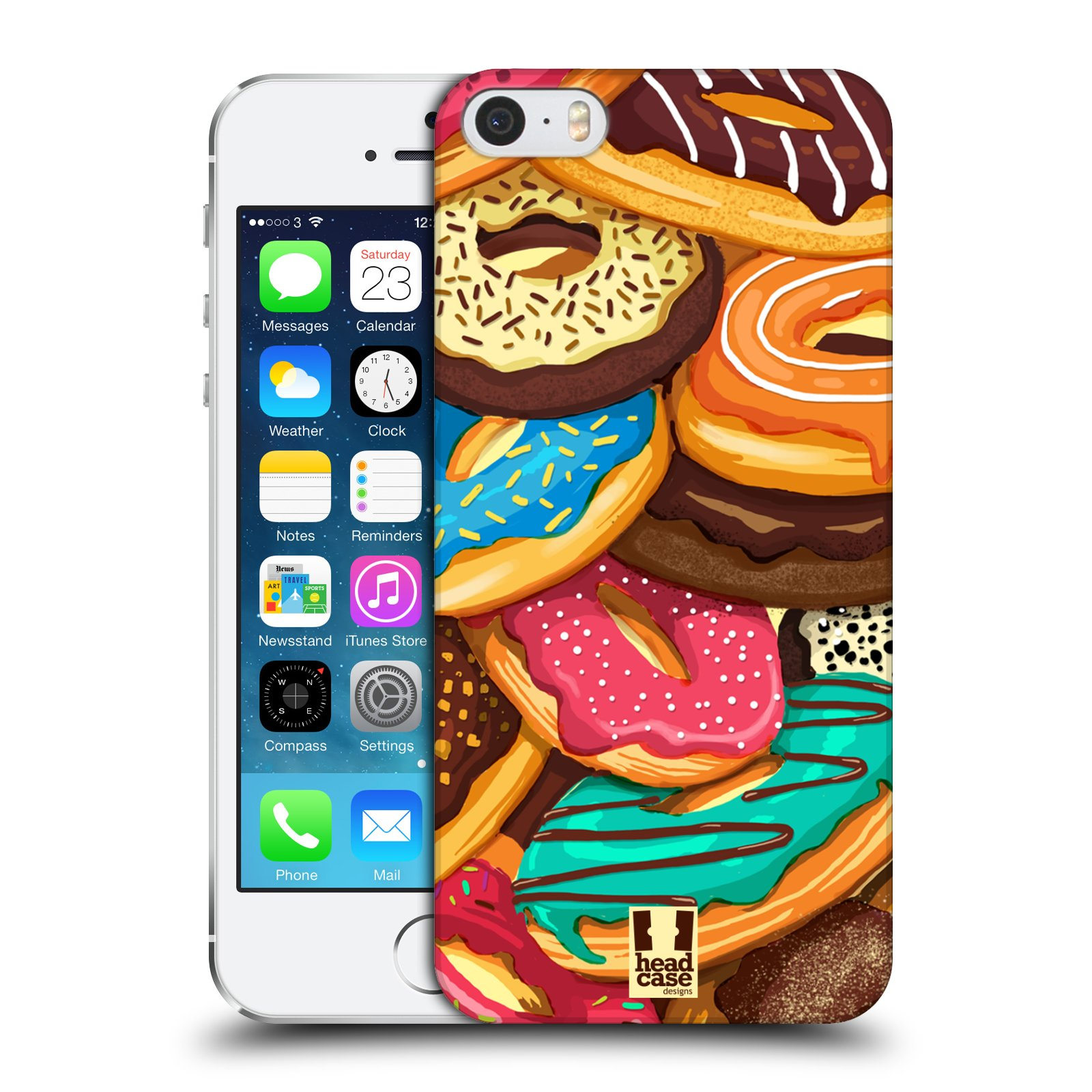 HEAD CASE DESIGNS DOUGHNUTS CASE COVER FOR APPLE iPHONE 5 5S