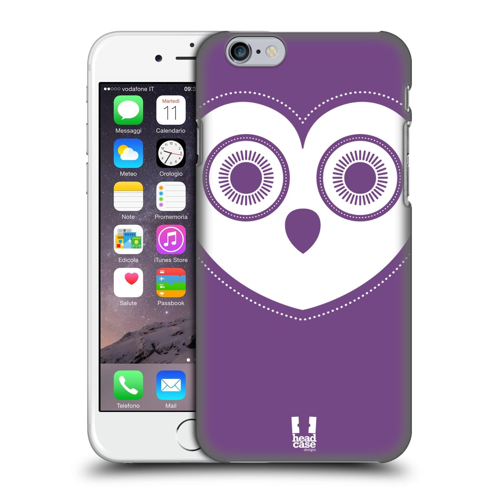 Plastové pouzdro pro mobil Apple Iphone 6 6S vzor roztomilá sovička barevná  levandule 72a806ad9d8