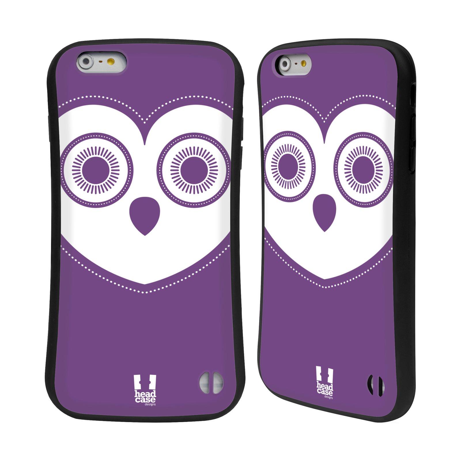 HEAD CASE silikon plast odolný obal na mobil Apple Iphone 6 PLUS   6S PLUS  vzor roztomilá sovička barevná levandule 54253e8242c