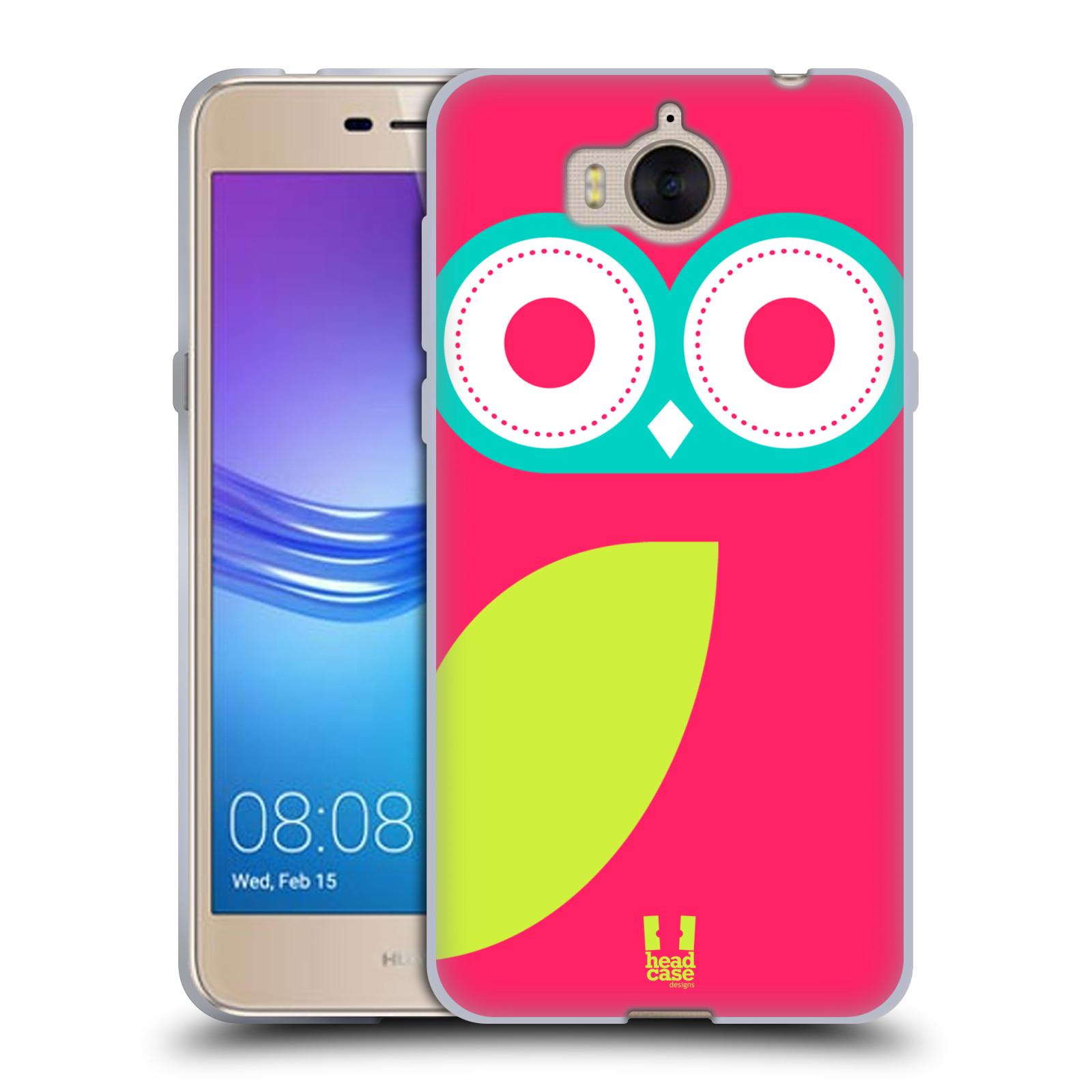 HEAD CASE silikonový obal na mobil Huawei Y5 2017 vzor roztomilá sovička barevná růžová a limeta