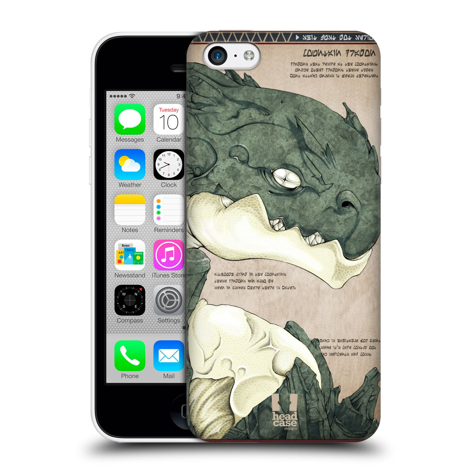 HEAD-CASE-DESIGNS-DRAGON-PROTECTIVE-SNAP-ON-BACK-CASE-COVER-FOR-APPLE-iPHONE-5C