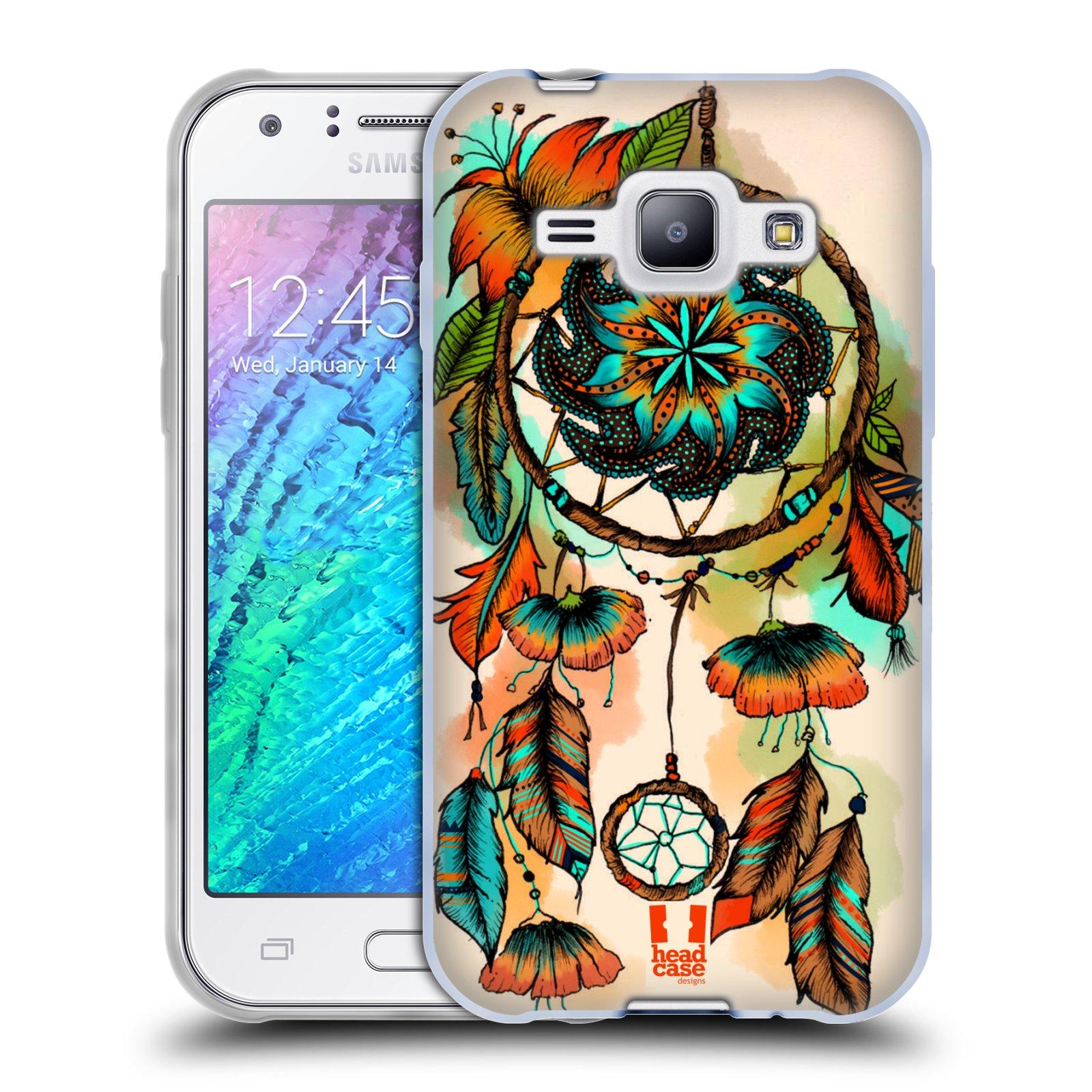 HEAD CASE silikonový obal na mobil Samsung Galaxy J1 vzor Květy lapač snů