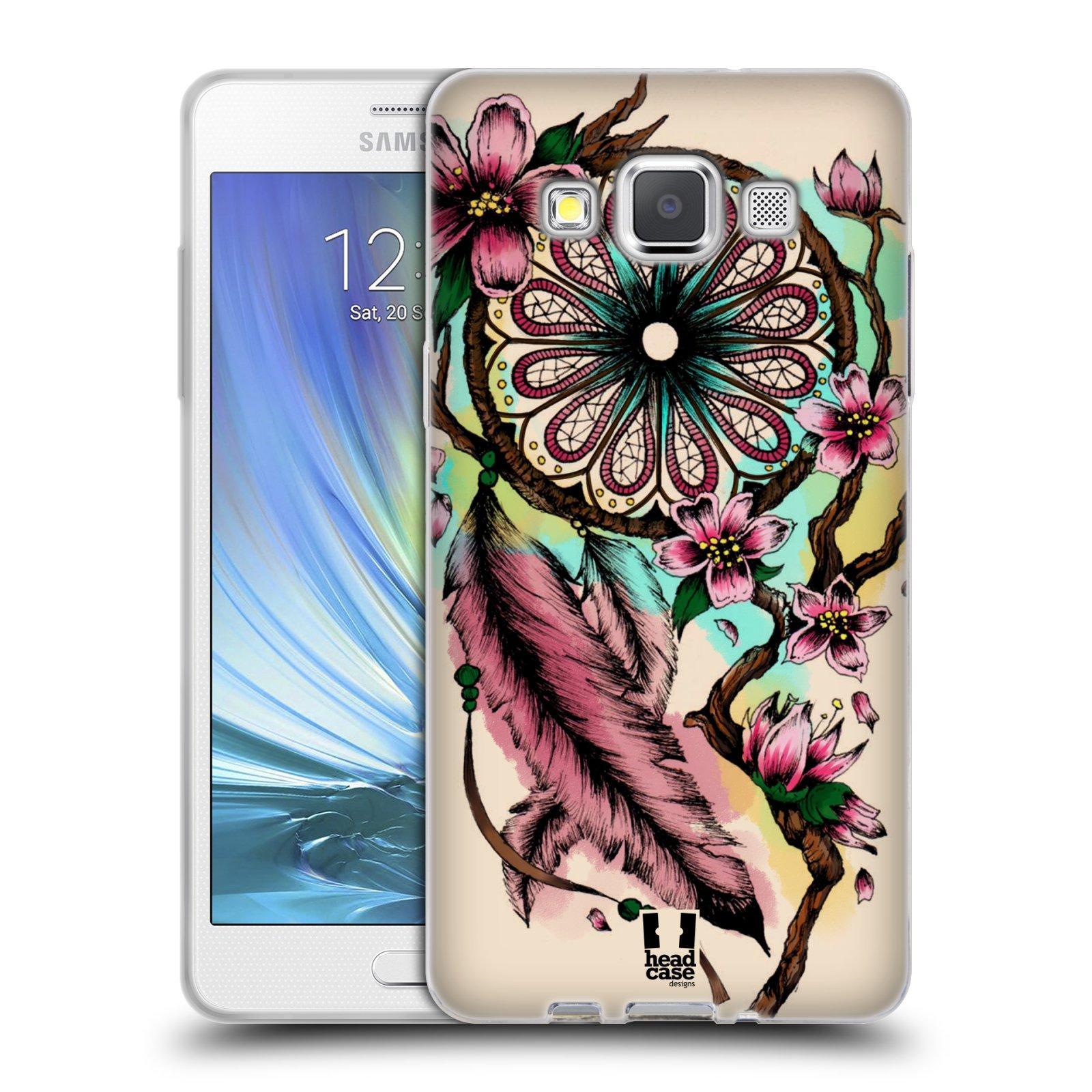 HEAD CASE silikonový obal na mobil Samsung Galaxy A5 vzor Květy lapač snů růžová