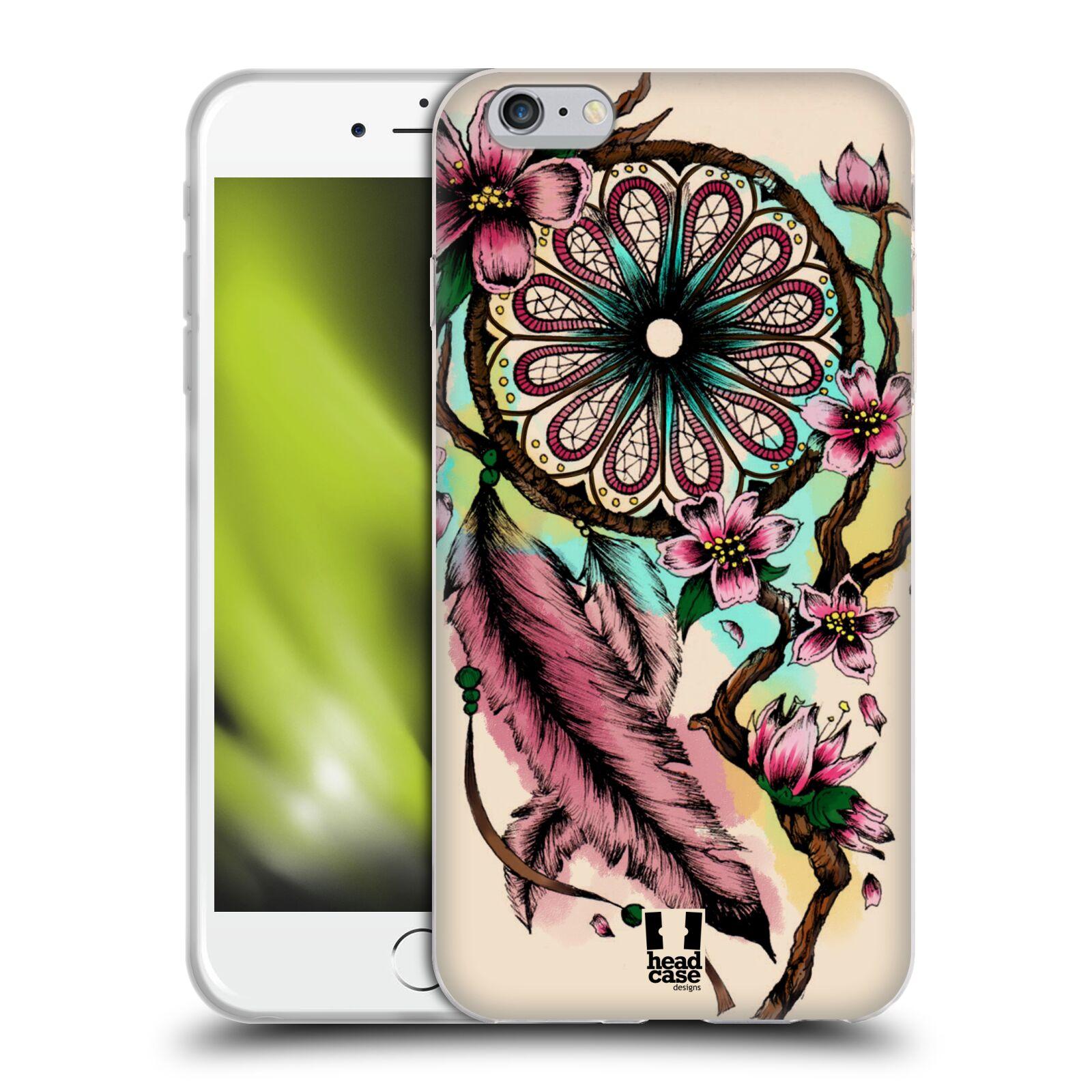 HEAD CASE silikonový obal na mobil Apple Iphone 6 PLUS/ 6S PLUS vzor Květy lapač snů růžová