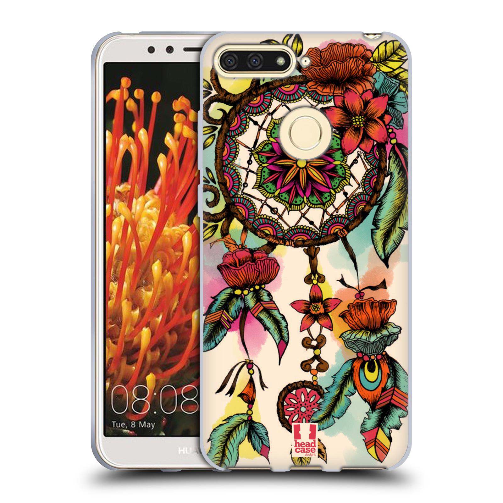 HEAD CASE silikonový obal na mobil Honor 7A vzor Květy lapač snů FLORID