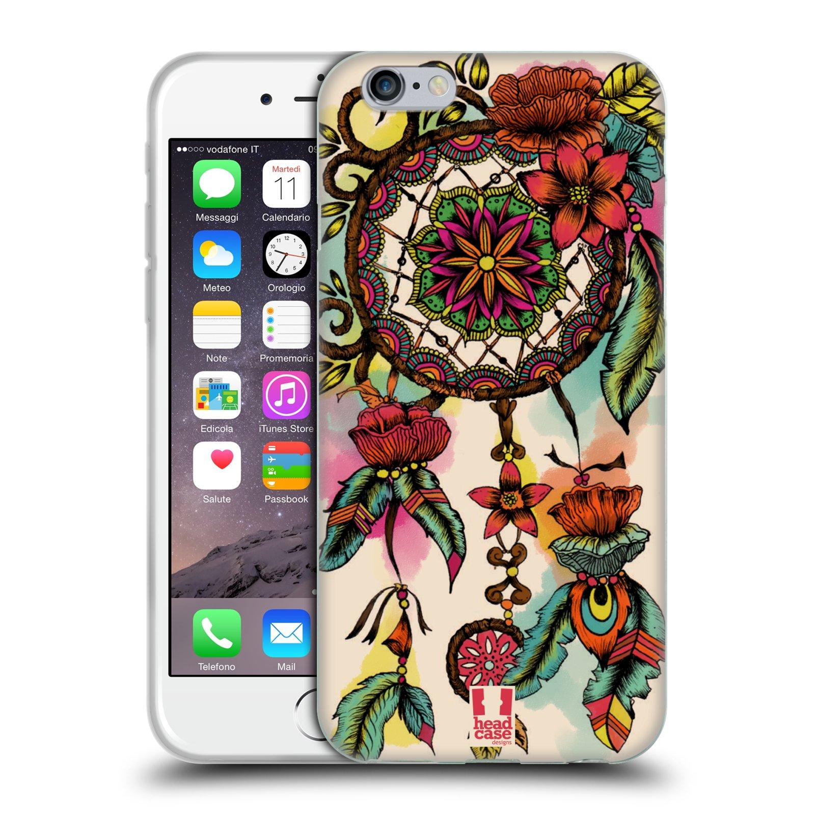 HEAD CASE silikonový obal na mobil Apple Iphone 6/6S vzor Květy lapač snů FLORID
