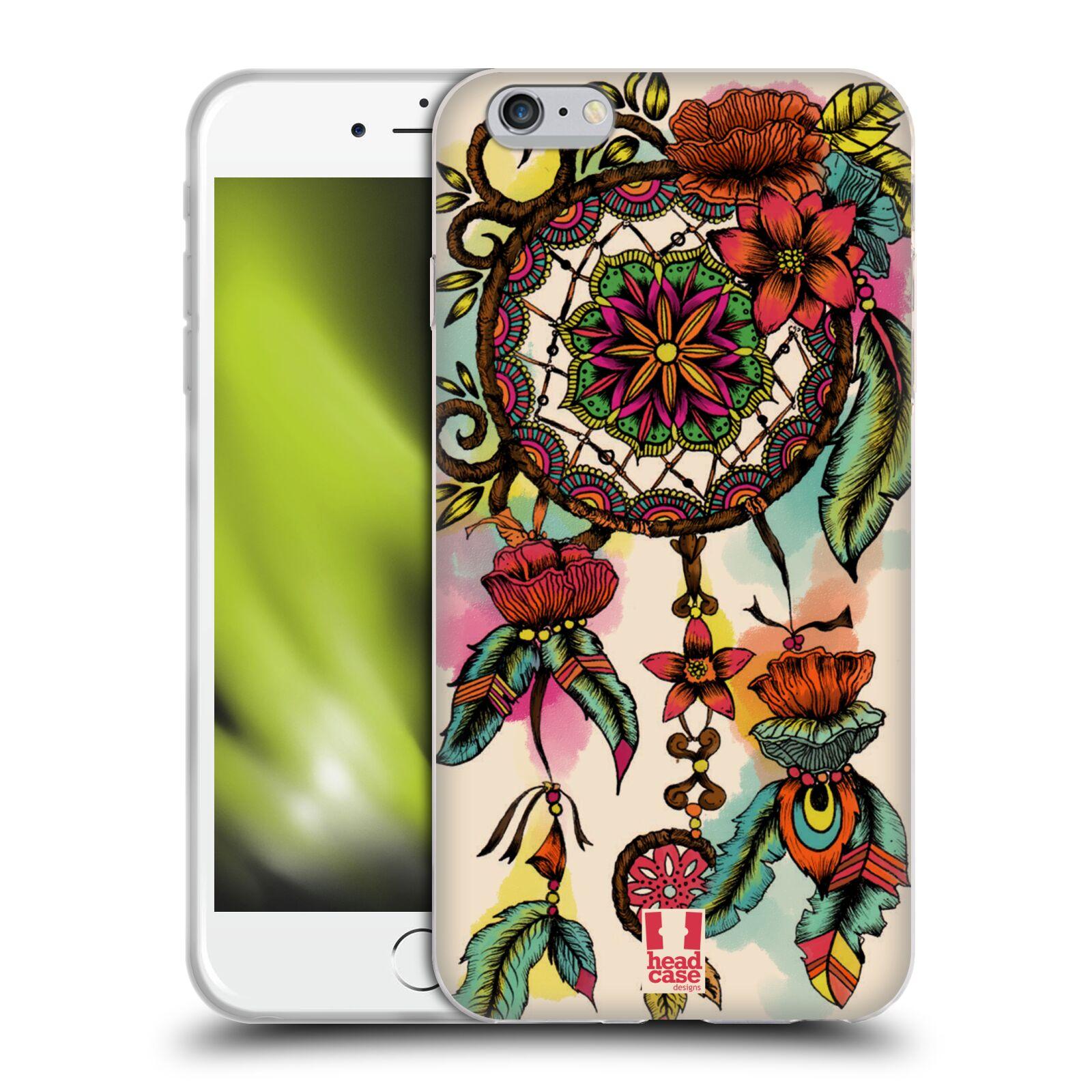 HEAD CASE silikonový obal na mobil Apple Iphone 6 PLUS/ 6S PLUS vzor Květy lapač snů FLORID