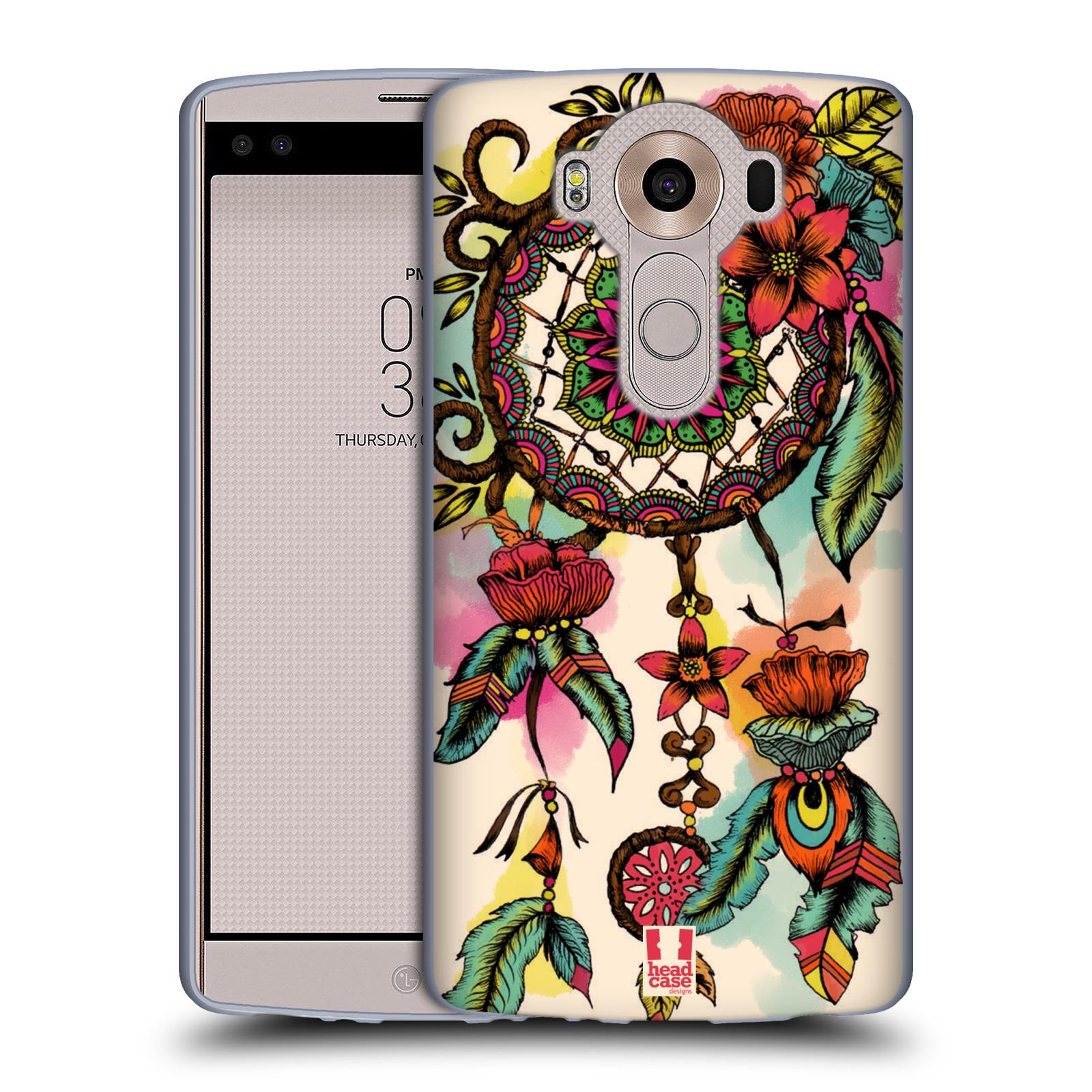 HEAD CASE silikonový obal na mobil LG V10 (H960A) vzor Květy lapač snů FLORID