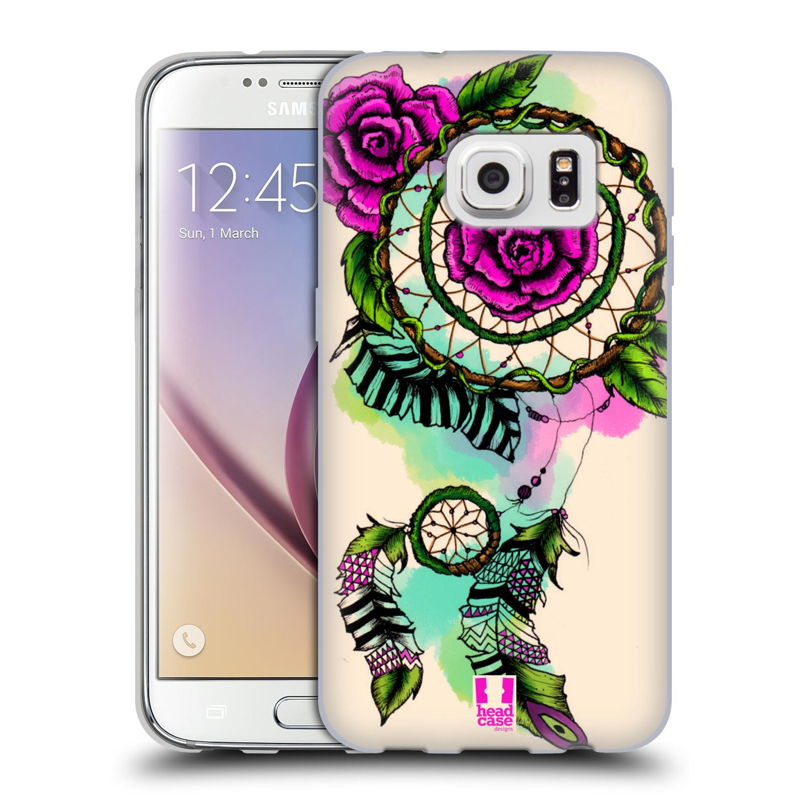 HEAD CASE silikonový obal na mobil Samsung Galaxy S7 vzor Květy lapač snů růže