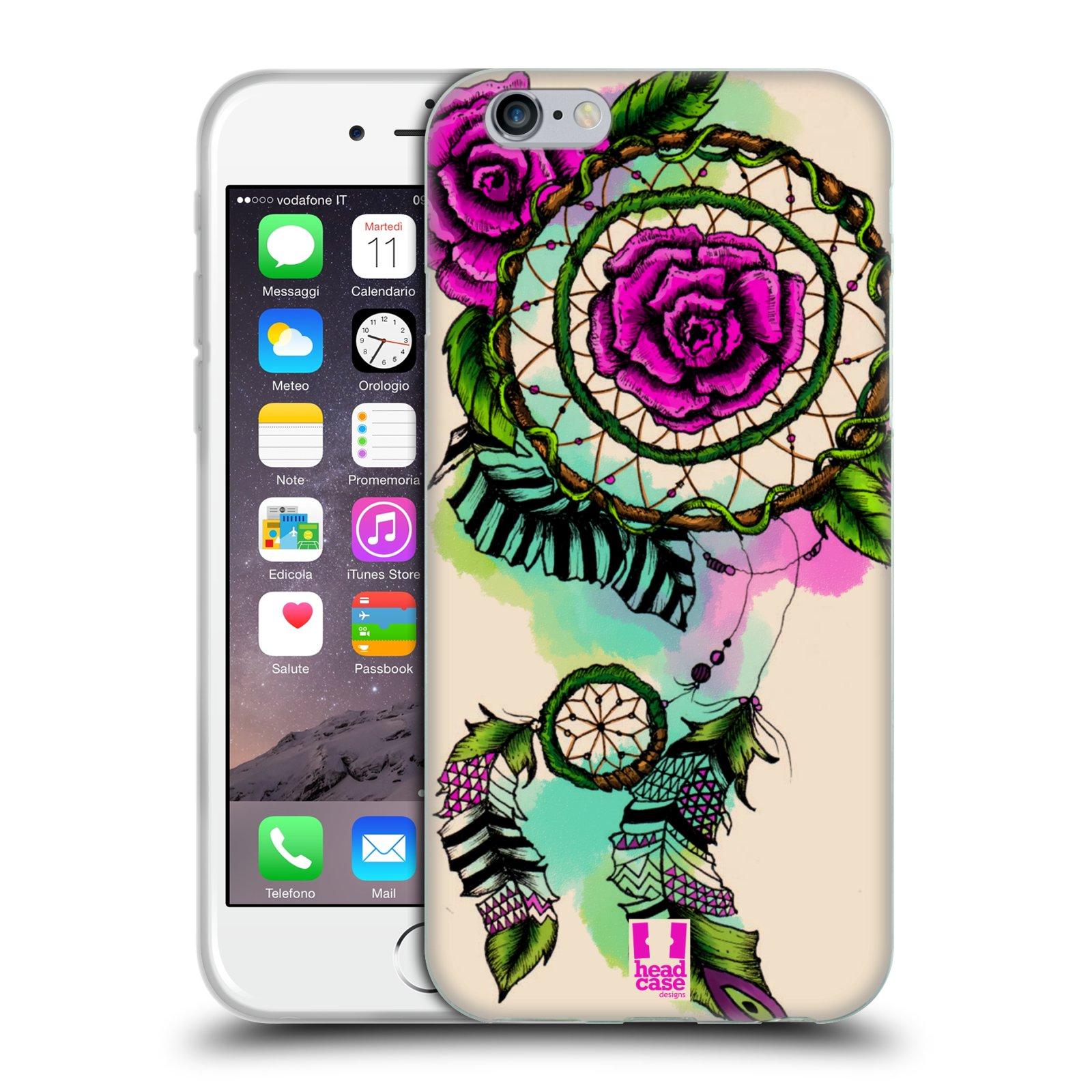 HEAD CASE silikonový obal na mobil Apple Iphone 6/6S vzor Květy lapač snů růže
