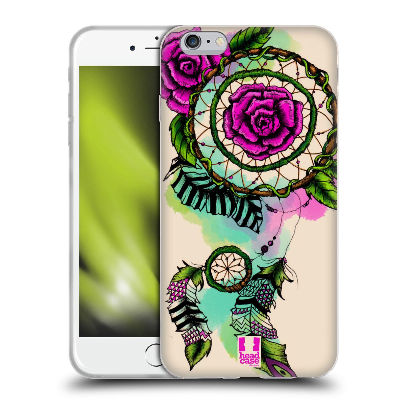 HEAD CASE silikonový obal na mobil Apple Iphone 6 PLUS/ 6S PLUS vzor Květy lapač snů růže
