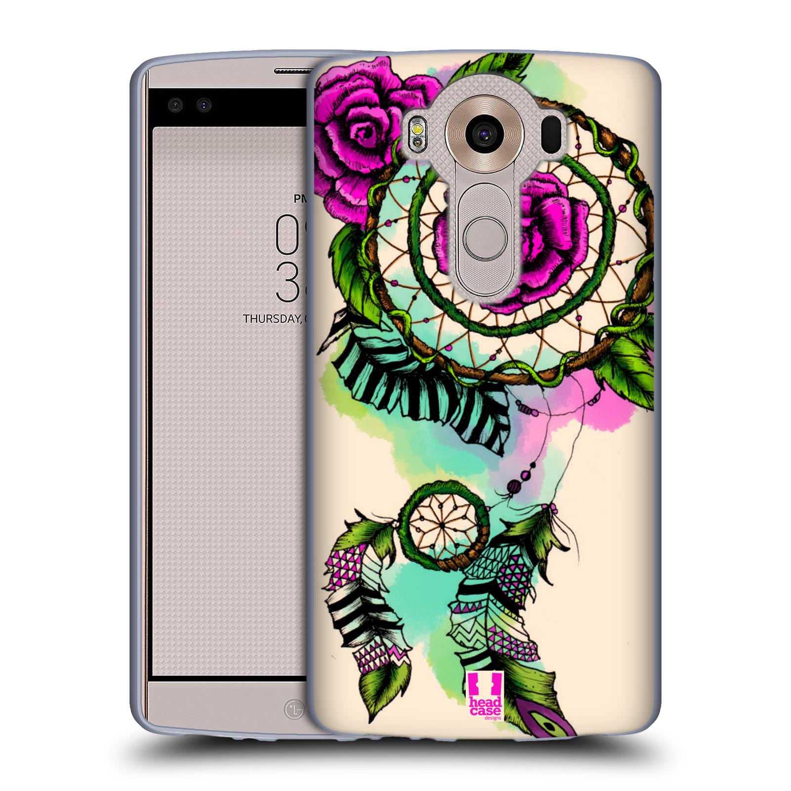 HEAD CASE silikonový obal na mobil LG V10 (H960A) vzor Květy lapač snů růže