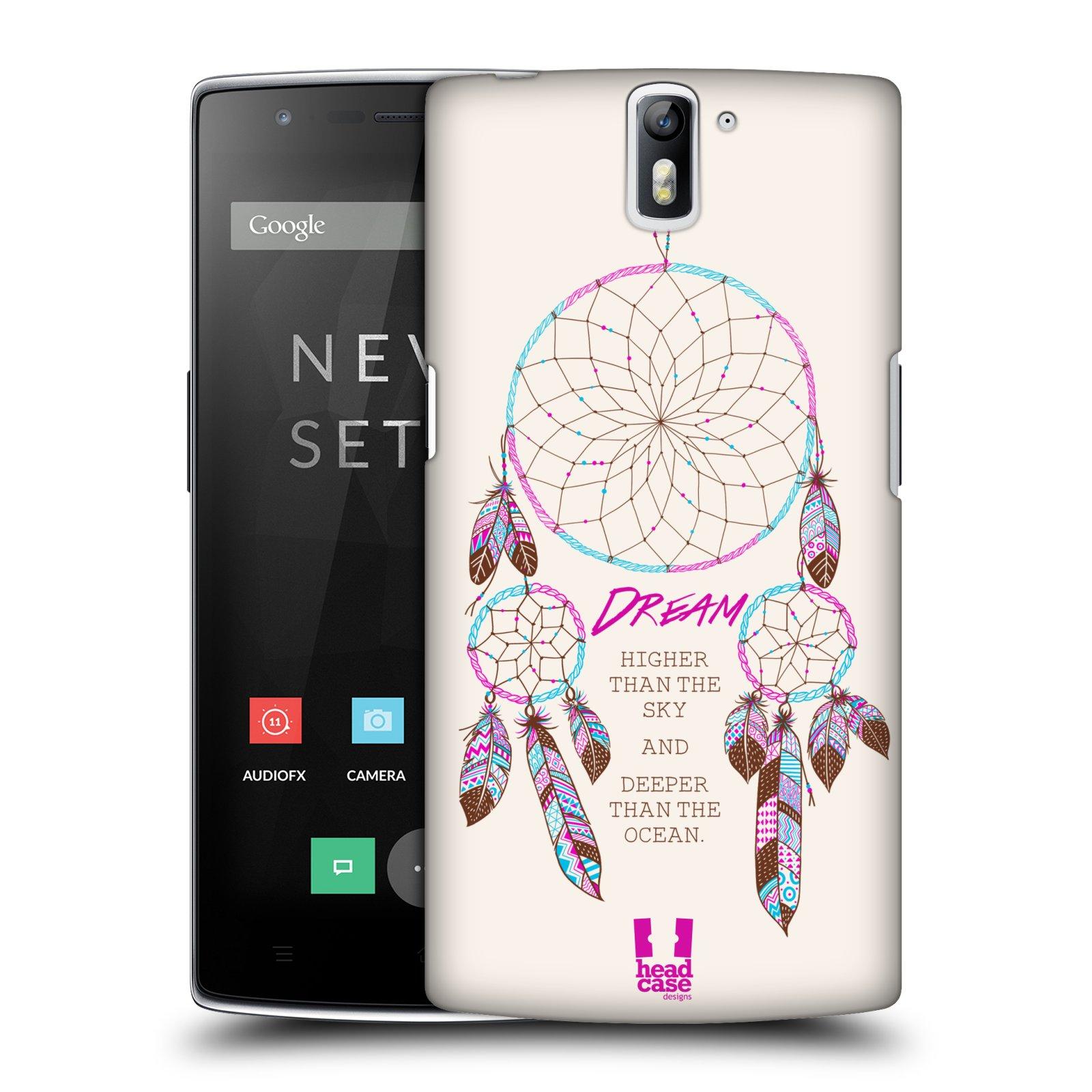HEAD CASE pevný plastový obal na mobil OnePlus ONE vzor Lapač snů růžová