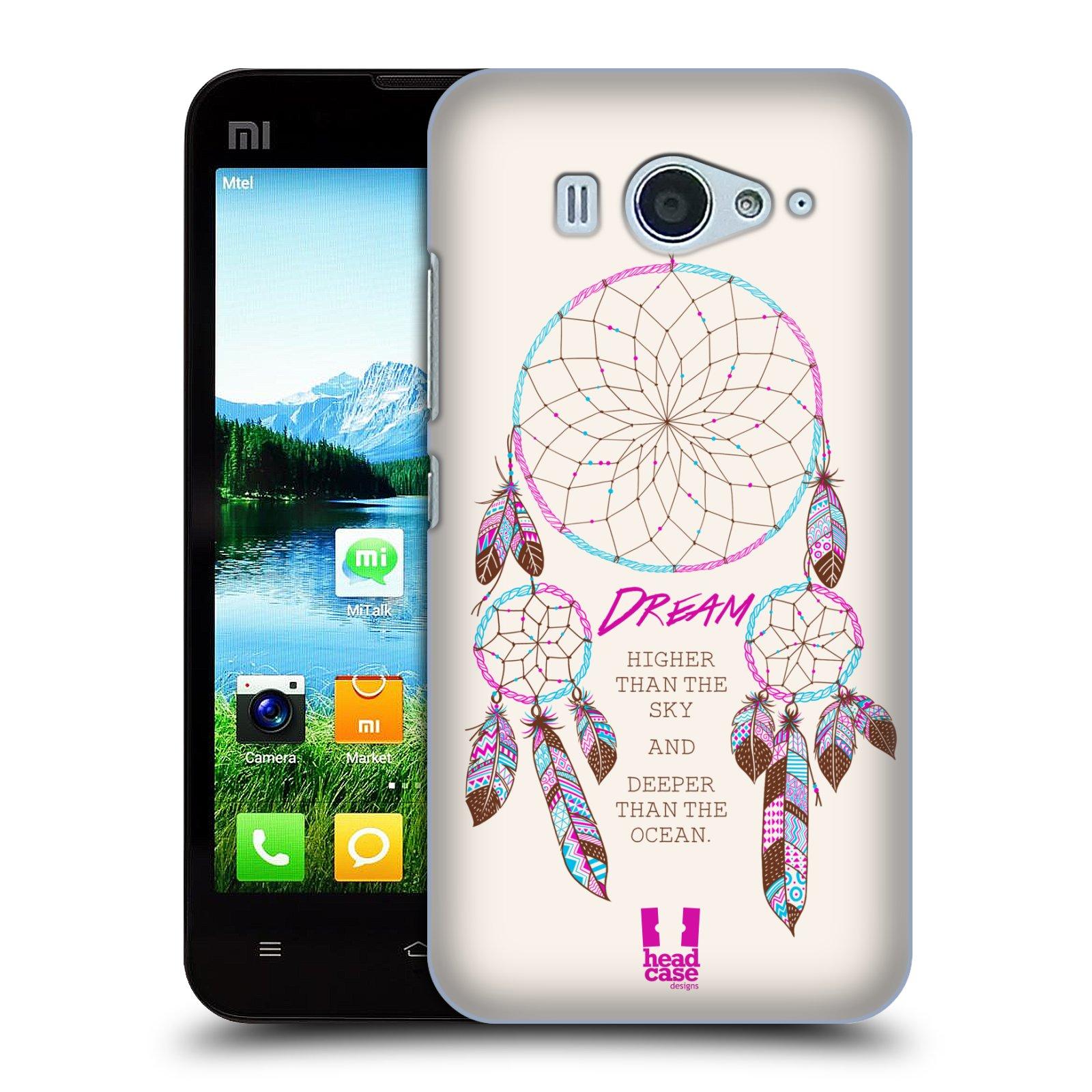 HEAD CASE pevný plastový obal na mobil XIAOMI MI2s vzor Lapač snů růžová