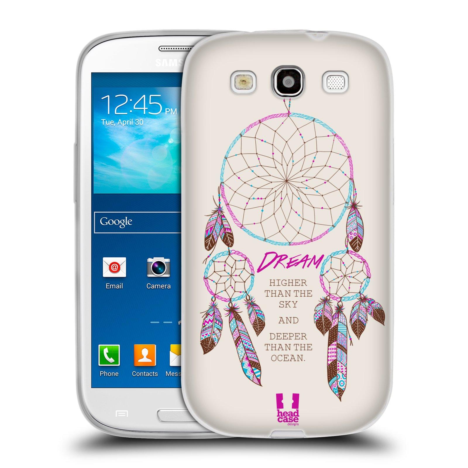 HEAD CASE silikonový obal na mobil Samsung Galaxy S3 i9300 vzor Lapač snů  růžová 700e345515f