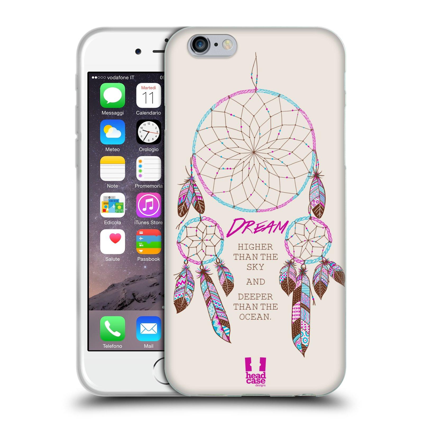 HEAD CASE silikonový obal na mobil Apple Iphone 6/6S vzor Lapač snů růžová