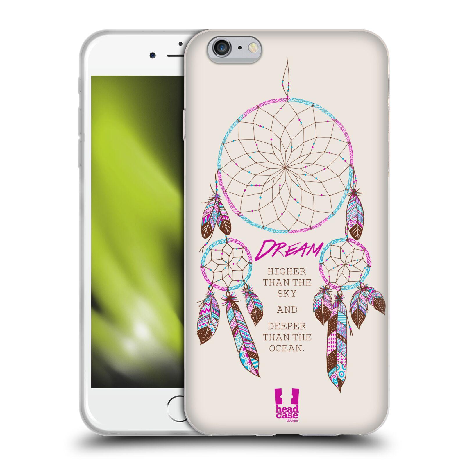HEAD CASE silikonový obal na mobil Apple Iphone 6 PLUS/ 6S PLUS vzor Lapač snů růžová