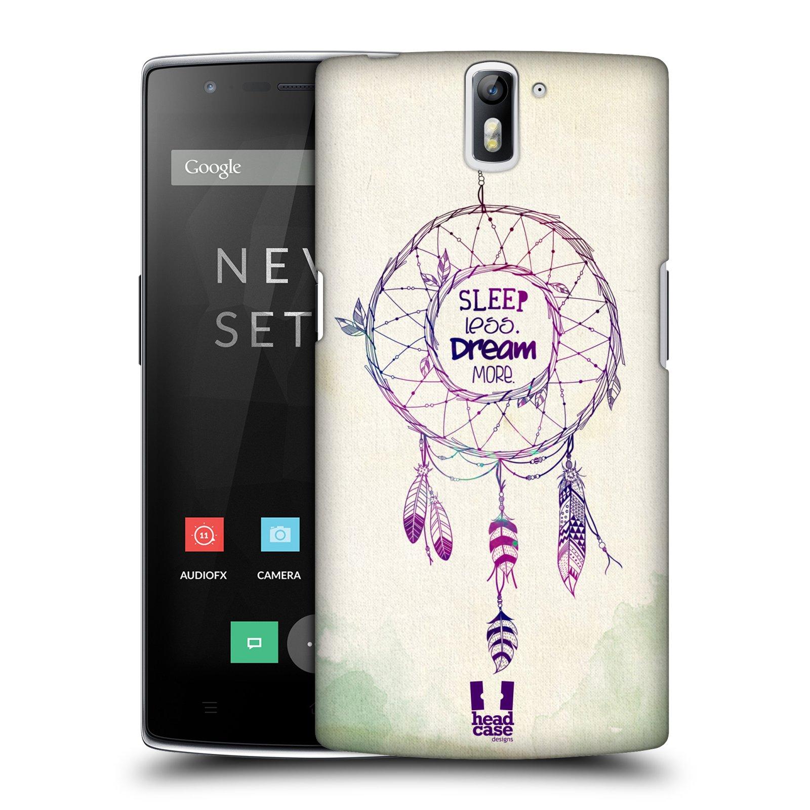HEAD CASE pevný plastový obal na mobil OnePlus ONE vzor Lapač snů ZELENÁ A FIALOVÁ