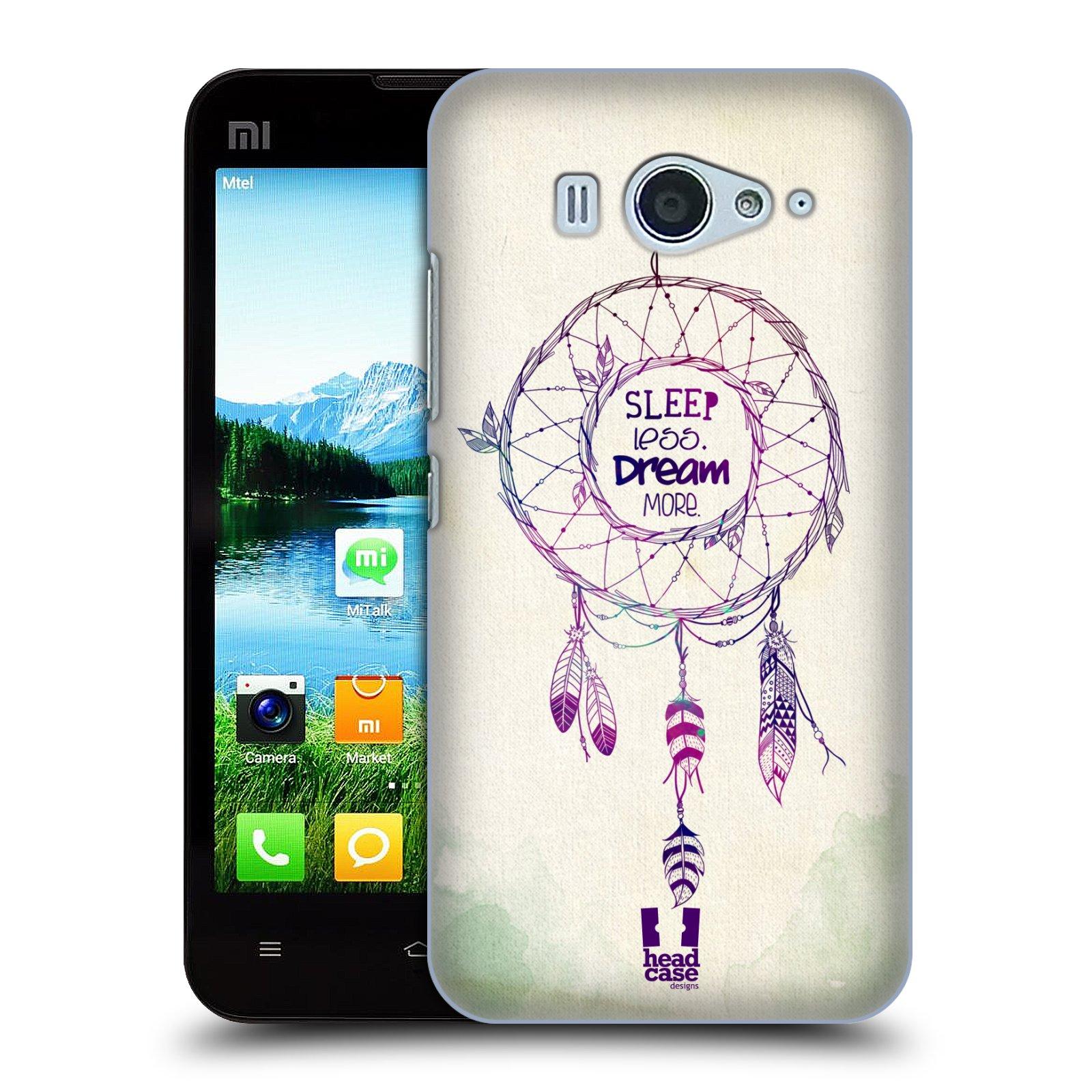 HEAD CASE pevný plastový obal na mobil XIAOMI MI2s vzor Lapač snů ZELENÁ A FIALOVÁ