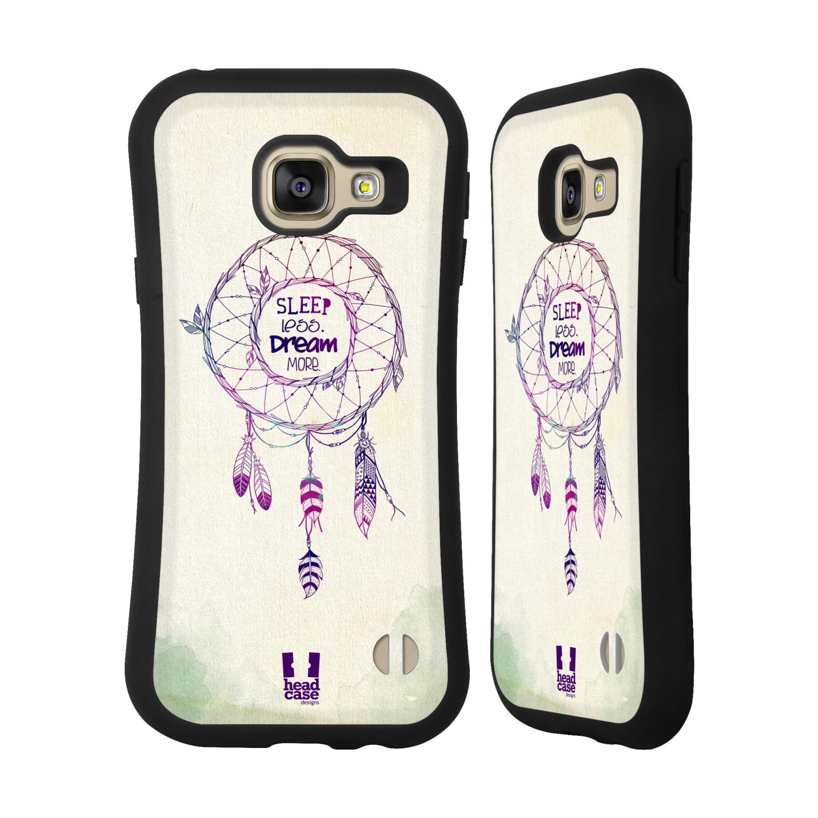 766dc9f3f15 HEAD CASE silikon plast odolný obal na mobil Samsung Galaxy A3 2016 vzor Lapač  snů ZELENÁ A FIALOVÁ