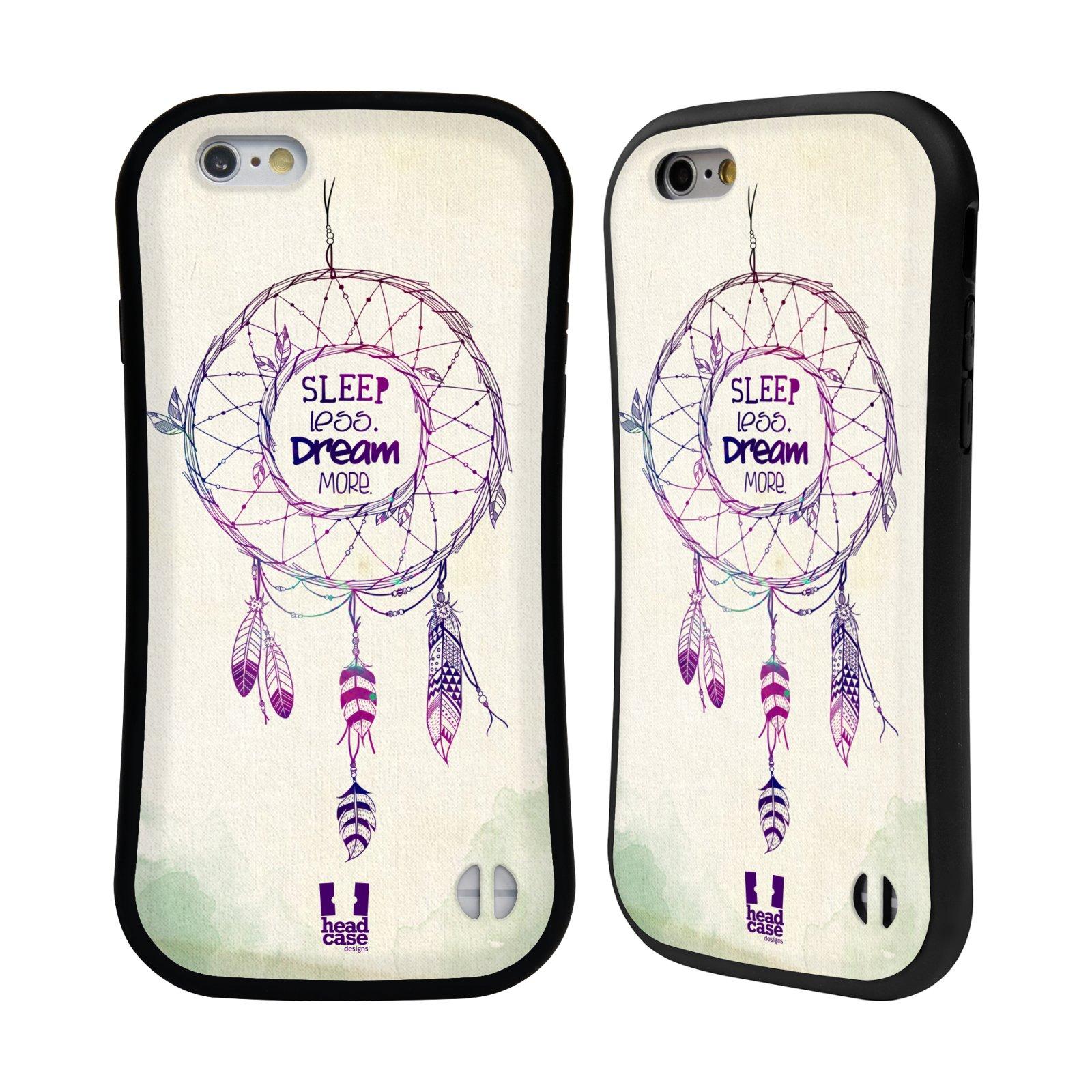 1c27b6661bc HEAD CASE silikon plast odolný obal na mobil Apple Iphone 6 6S vzor Lapač  snů ZELENÁ A FIALOVÁ