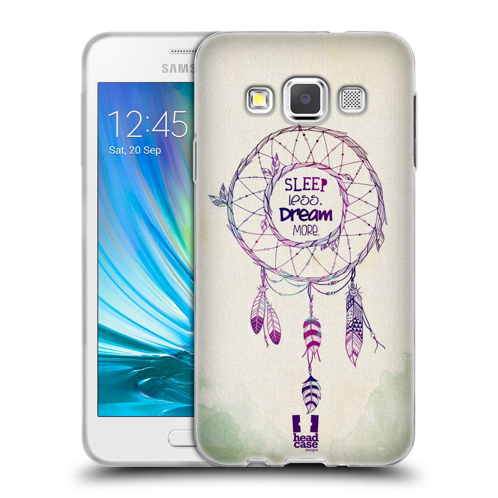 39bf4d14639 HEAD CASE silikonový obal na mobil Samsung Galaxy A3 vzor Lapač snů ZELENÁ  A FIALOVÁ