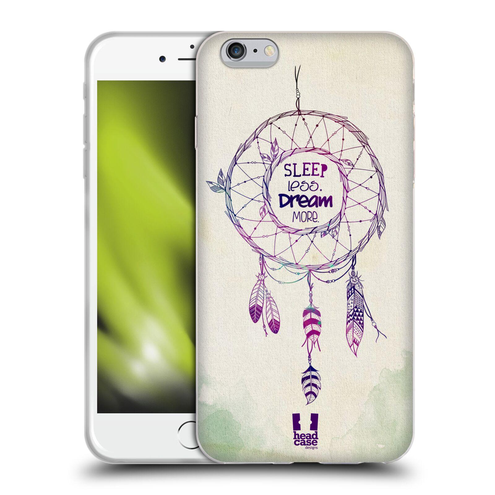 HEAD CASE silikonový obal na mobil Apple Iphone 6 PLUS/ 6S PLUS vzor Lapač snů ZELENÁ A FIALOVÁ