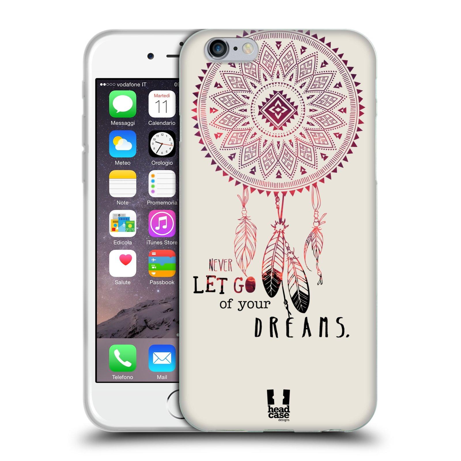 HEAD CASE silikonový obal na mobil Apple Iphone 6/6S vzor Lapač snů ČERVENÁ
