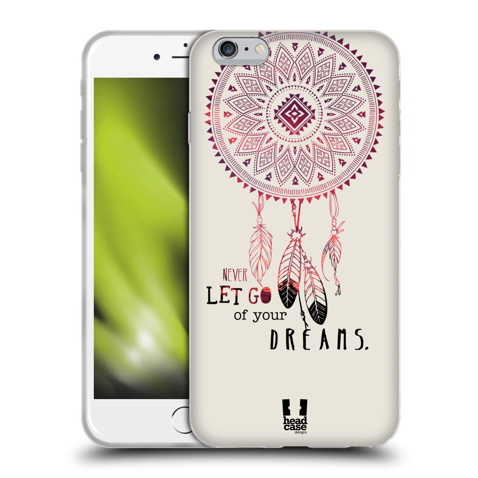 HEAD CASE silikonový obal na mobil Apple Iphone 6 PLUS/ 6S PLUS vzor Lapač snů ČERVENÁ