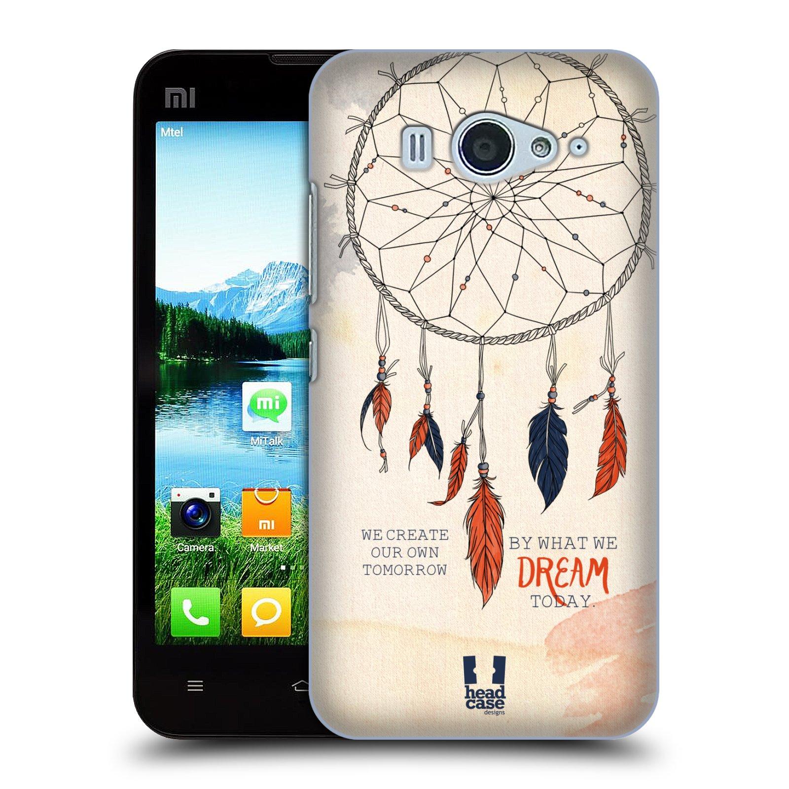 HEAD CASE pevný plastový obal na mobil XIAOMI MI2s vzor Lapač snů ORANŽOVÁ