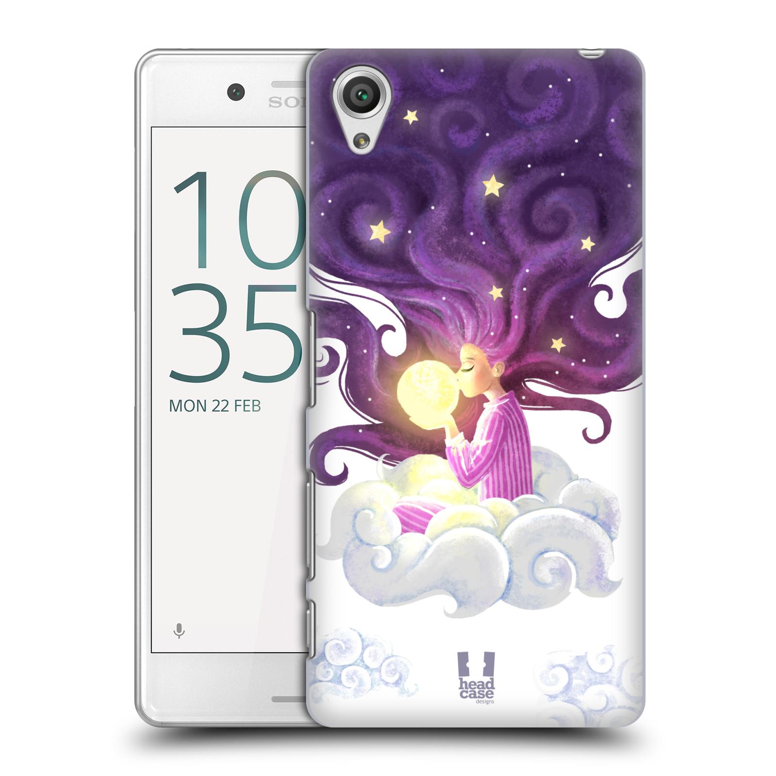 Pouzdro na mobil Sony Xperia X PERFORMANCE - HEAD CASE - polibek měsíce