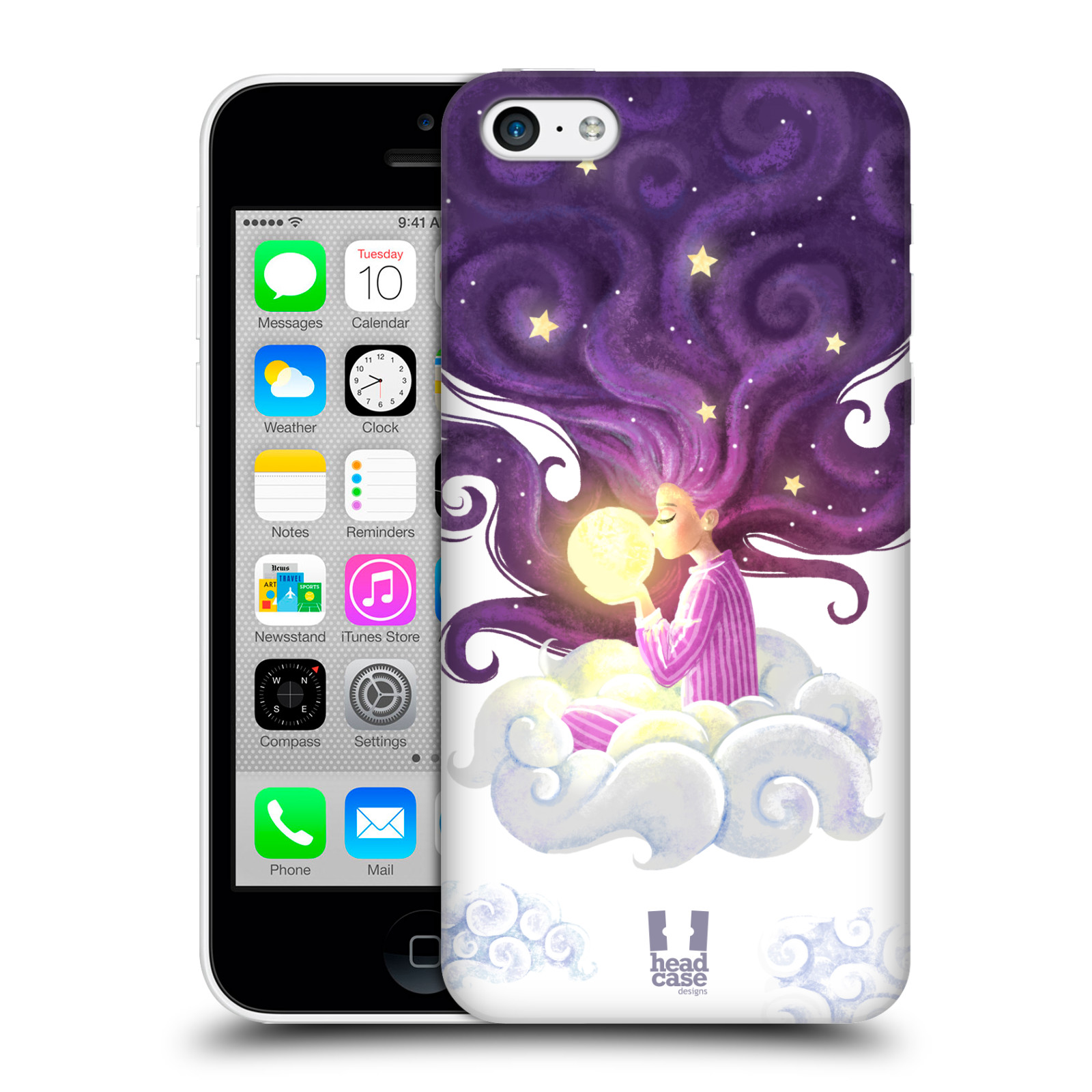 Pouzdro na mobil Apple Iphone 5C - HEAD CASE - polibek měsíce