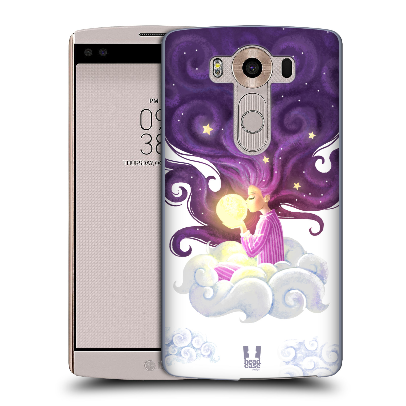 Pouzdro na mobil LG V10 - HEAD CASE - polibek měsíce