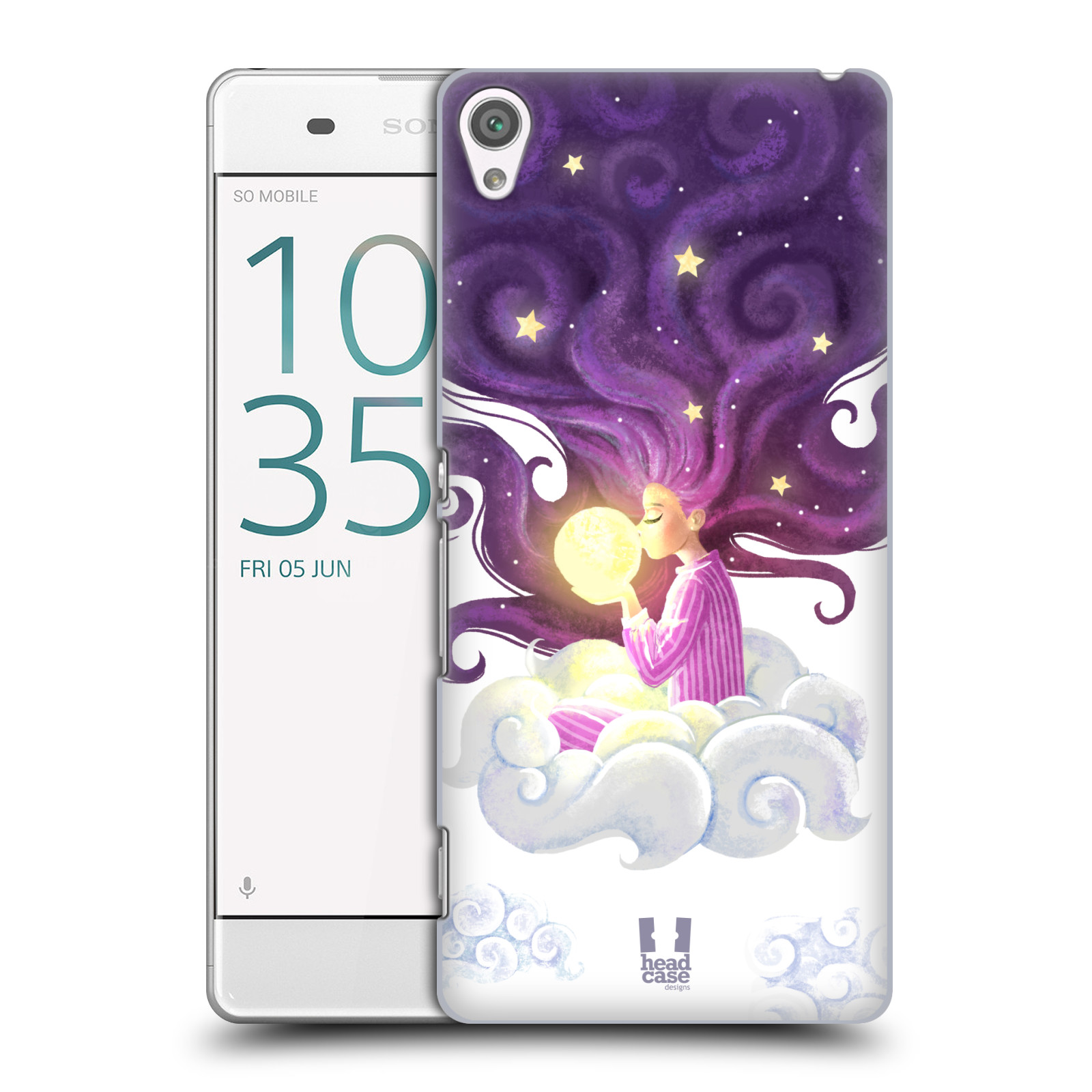 Pouzdro na mobil Sony Xperia XA - HEAD CASE - polibek měsíce