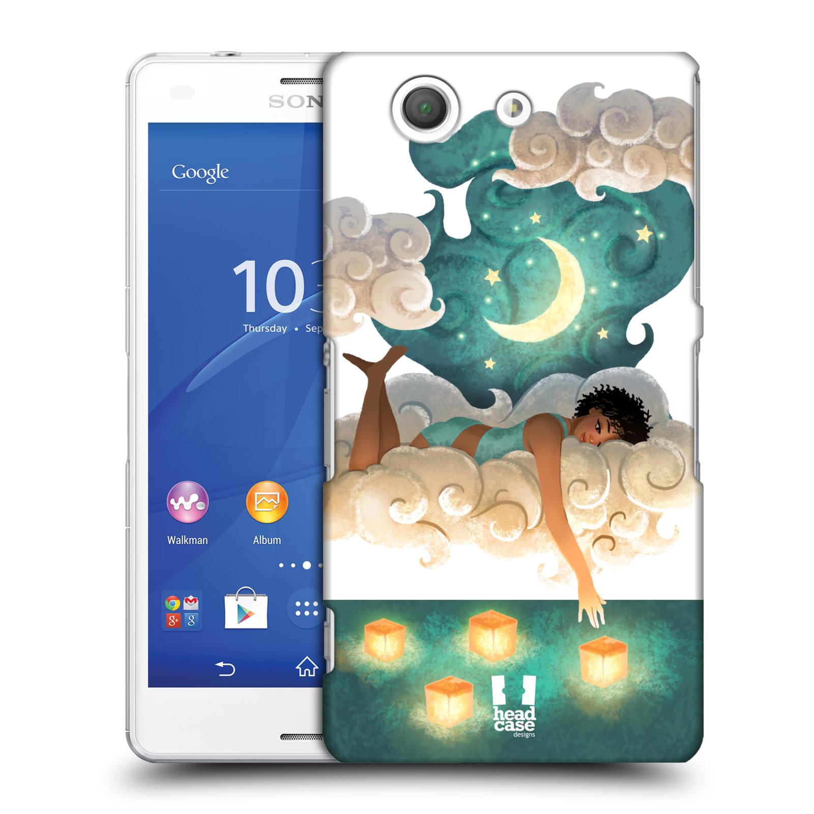Pouzdro na mobil Sony Xperia Z3 COMPACT - HEAD CASE - měsíc a lucerny