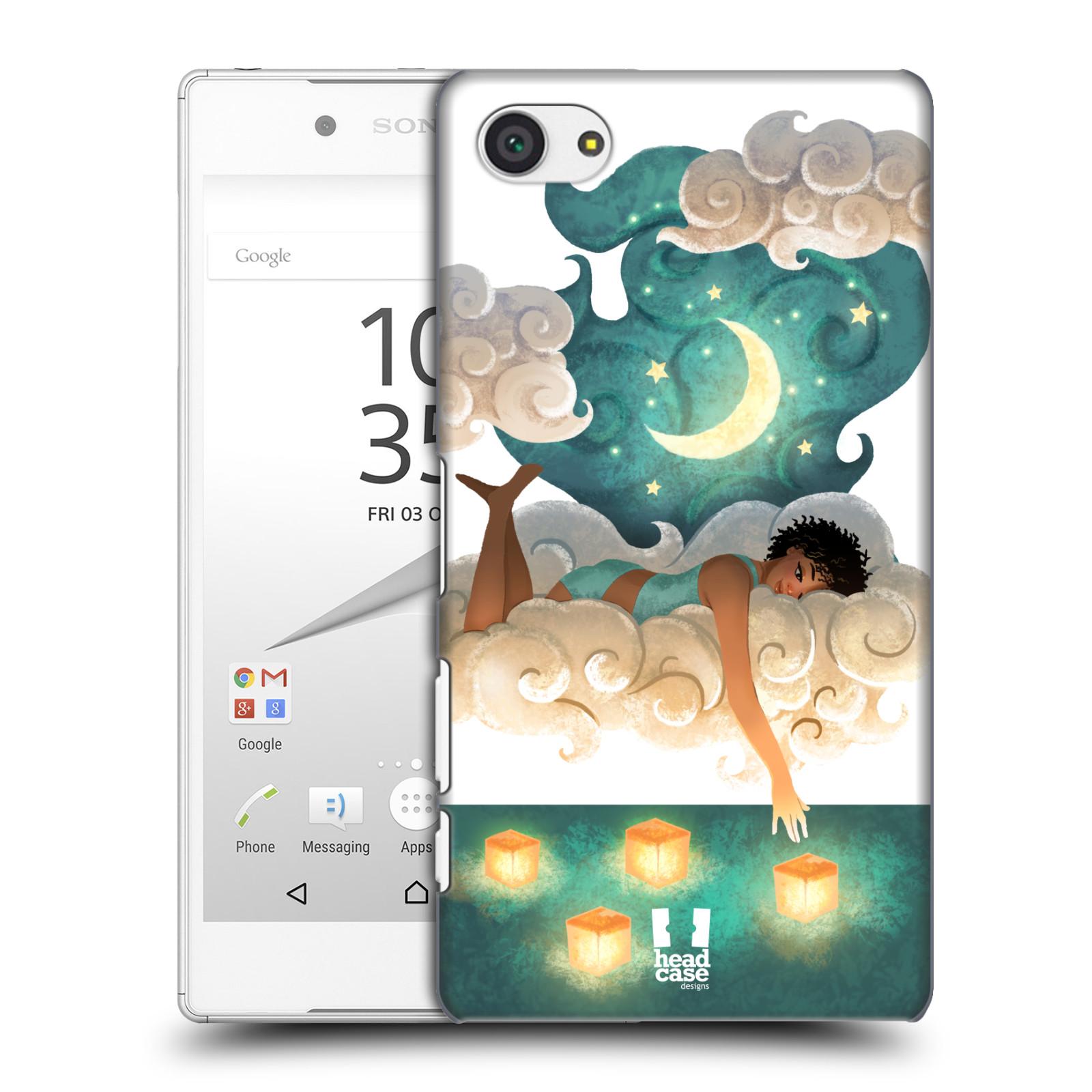 Pouzdro na mobil Sony Xperia Z5 COMPACT - HEAD CASE - měsíc a lucerny
