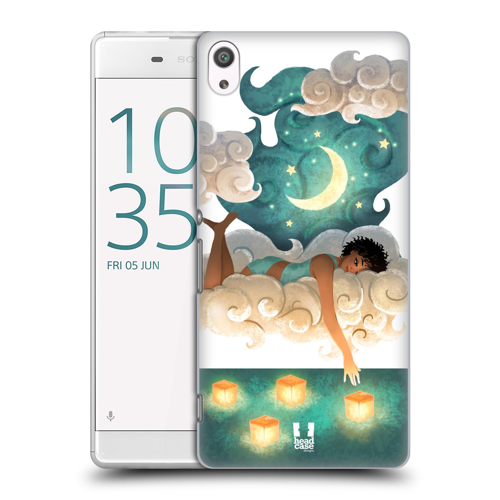 Pouzdro na mobil Sony Xperia XA ULTRA - HEAD CASE - měsíc a lucerny