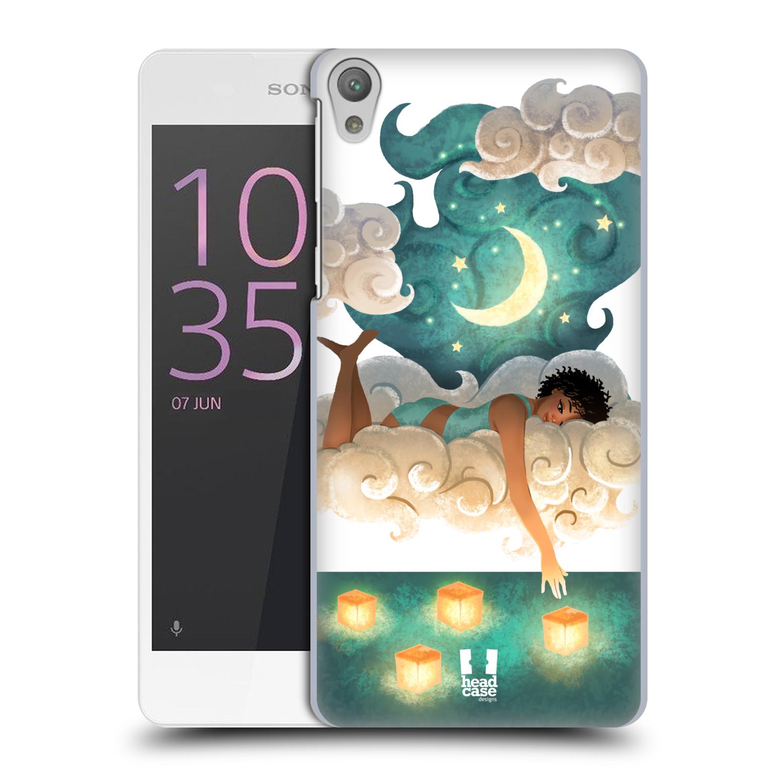 Pouzdro na mobil Sony Xperia E5 - HEAD CASE - měsíc a lucerny