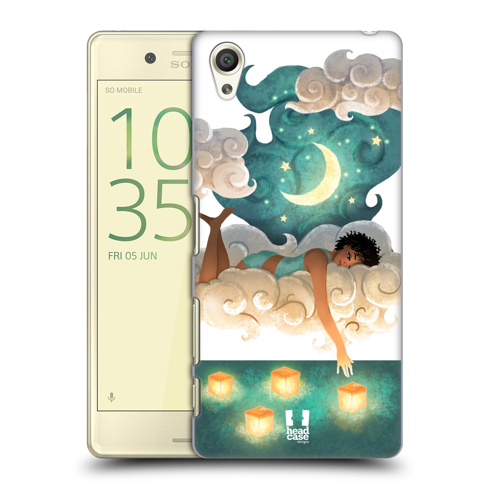 Pouzdro na mobil Sony Xperia X - HEAD CASE - měsíc a lucerny
