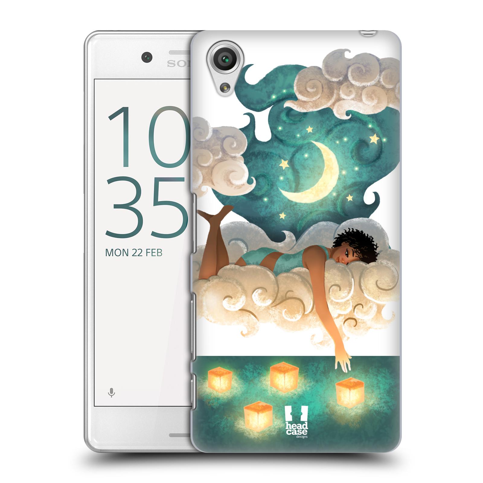 Pouzdro na mobil Sony Xperia X PERFORMANCE - HEAD CASE - měsíc a lucerny