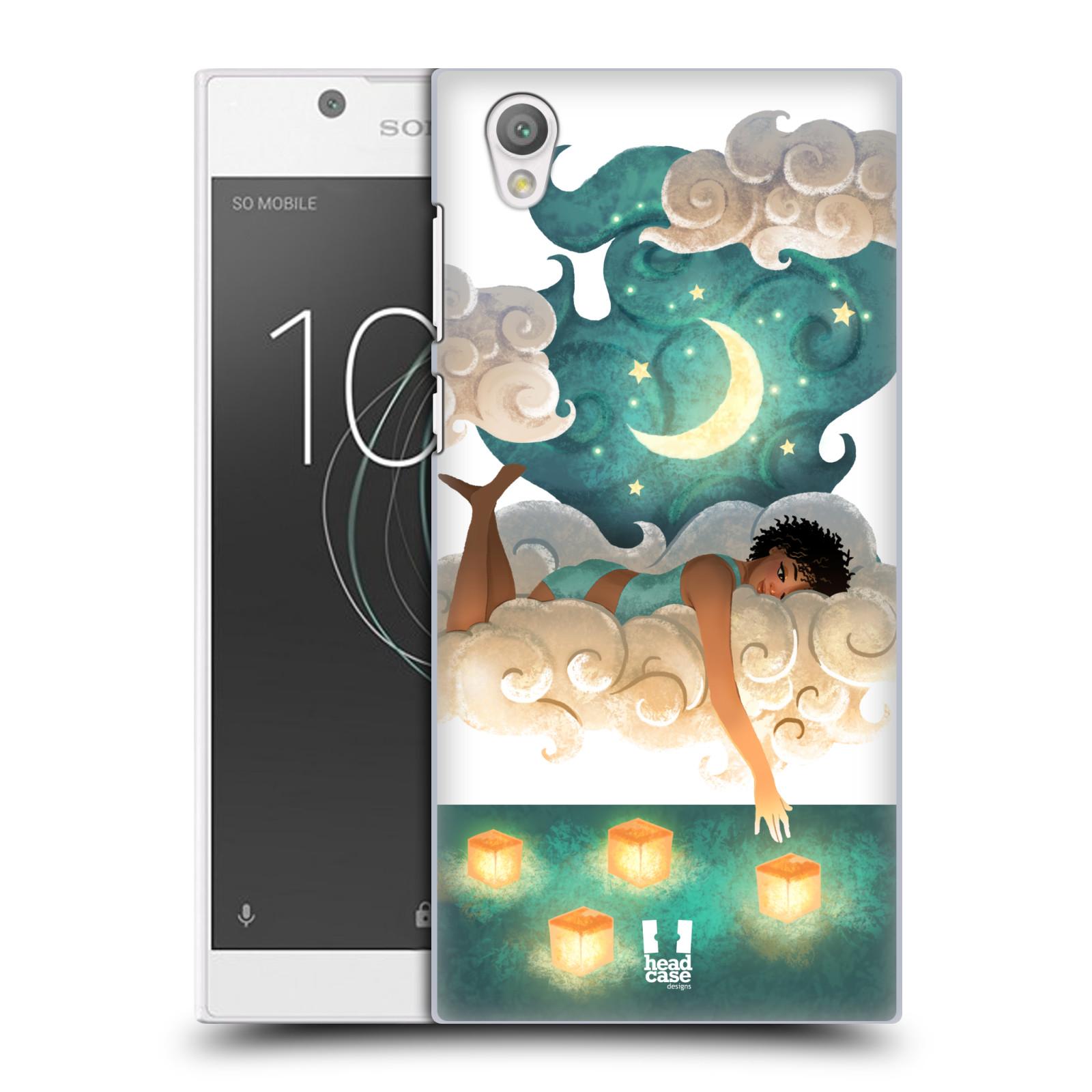 Pouzdro na mobil Sony Xperia L1 - HEAD CASE - měsíc a lucerny