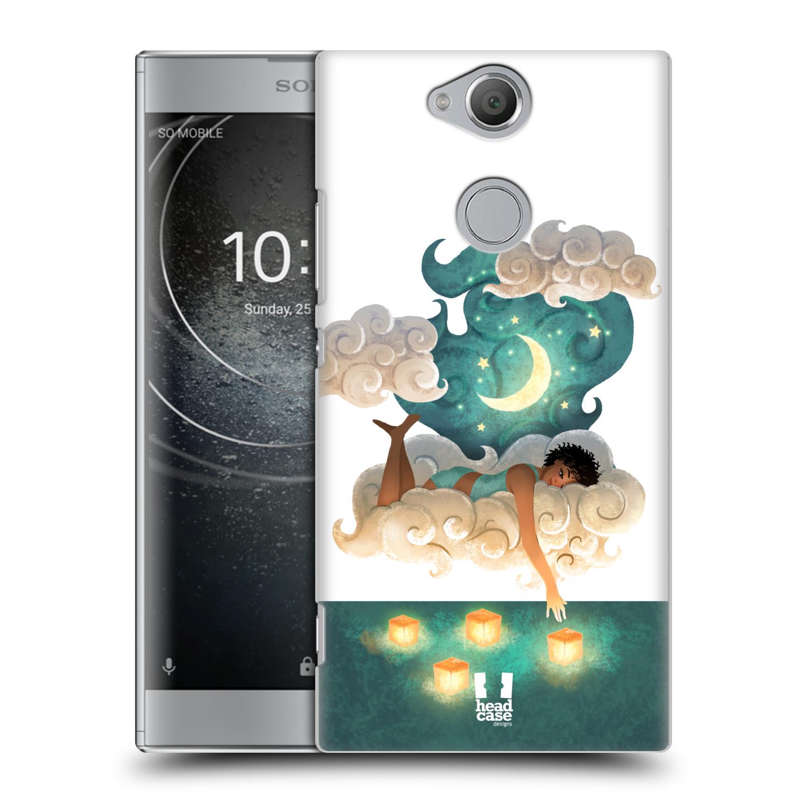 Pouzdro na mobil Sony Xperia XA2 - HEAD CASE - měsíc a lucerny