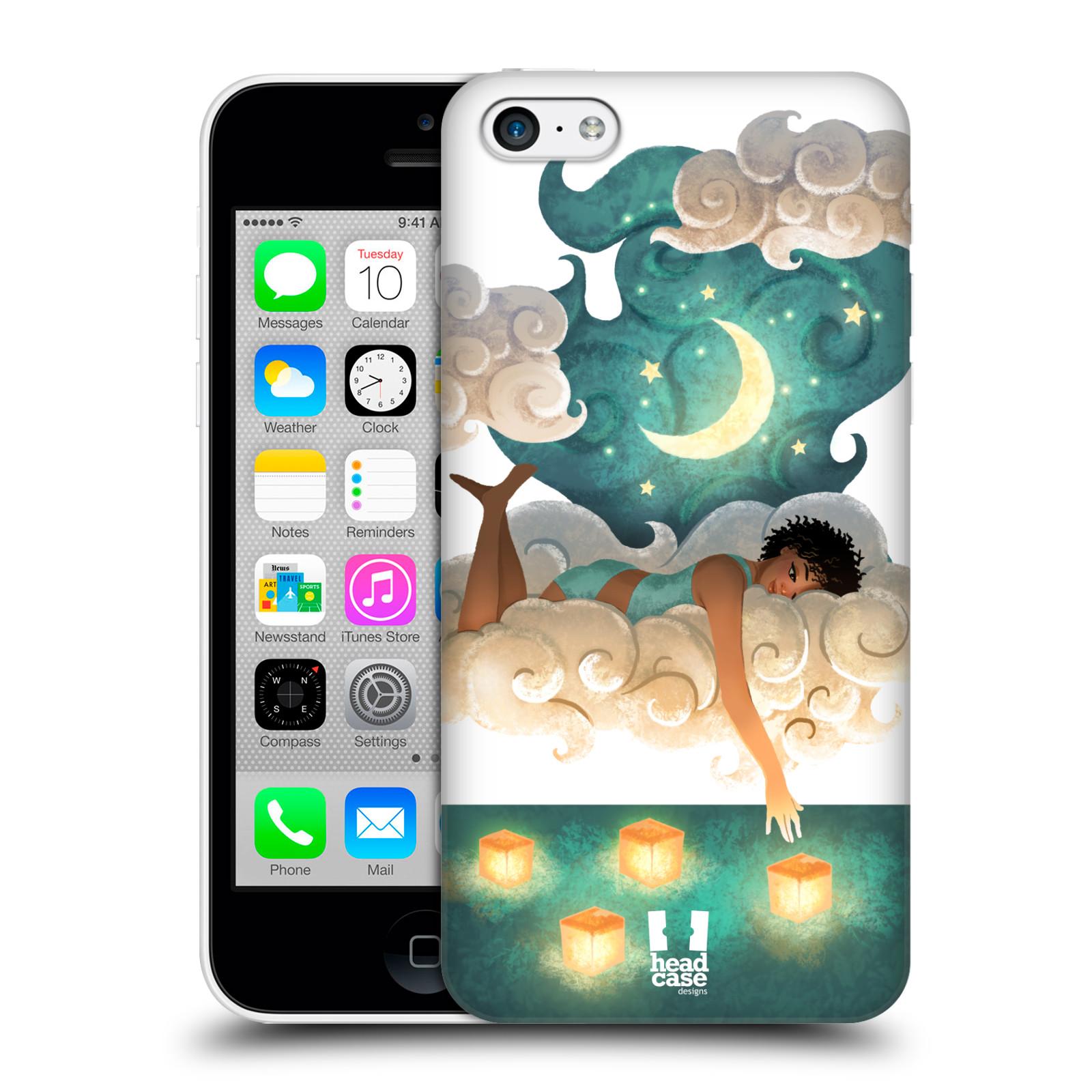 Pouzdro na mobil Apple Iphone 5C - HEAD CASE - měsíc a lucerny
