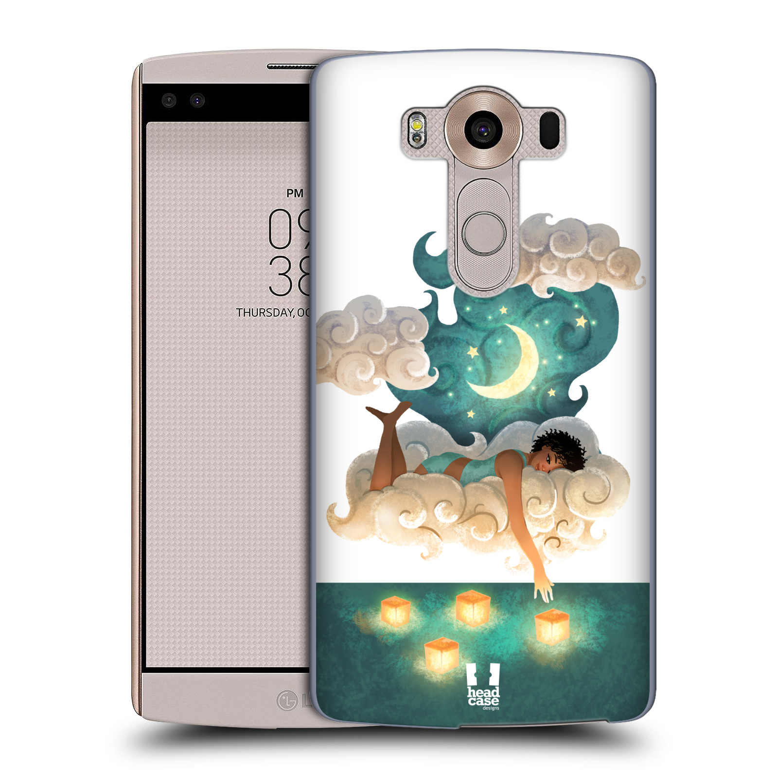 Pouzdro na mobil LG V10 - HEAD CASE - měsíc a lucerny