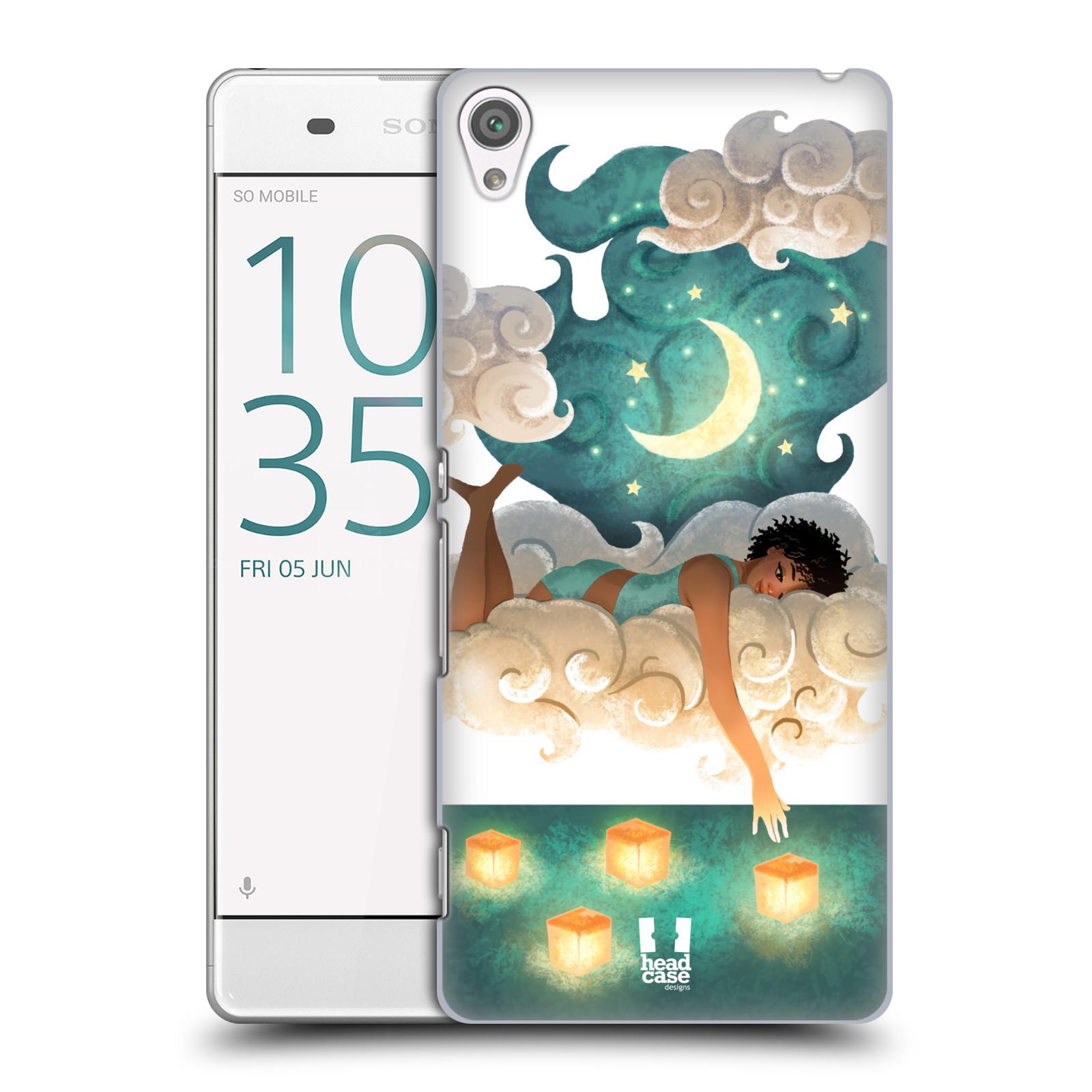 Pouzdro na mobil Sony Xperia XA - HEAD CASE - měsíc a lucerny