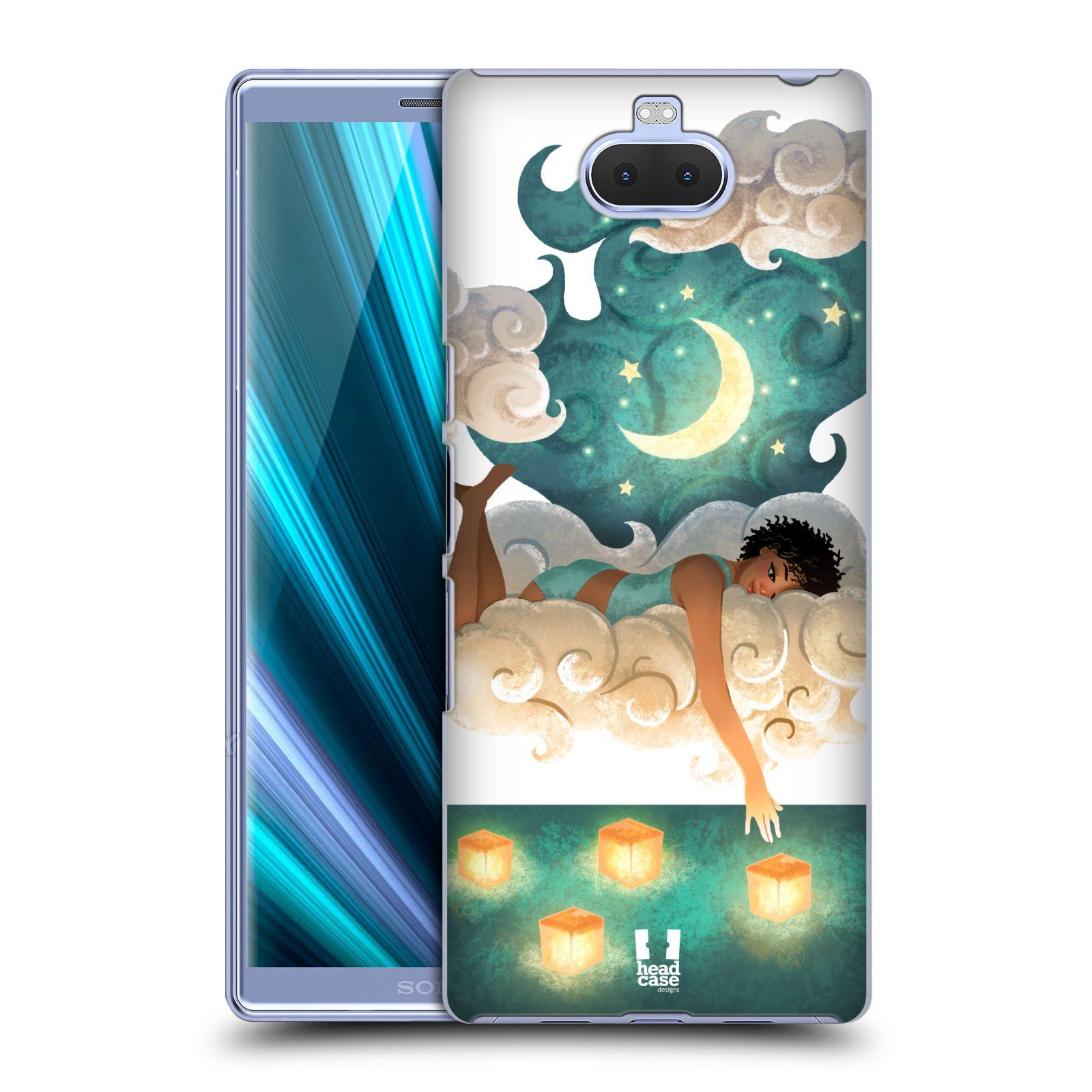 Pouzdro na mobil Sony Xperia 10 Plus - HEAD CASE - měsíc a lucerny