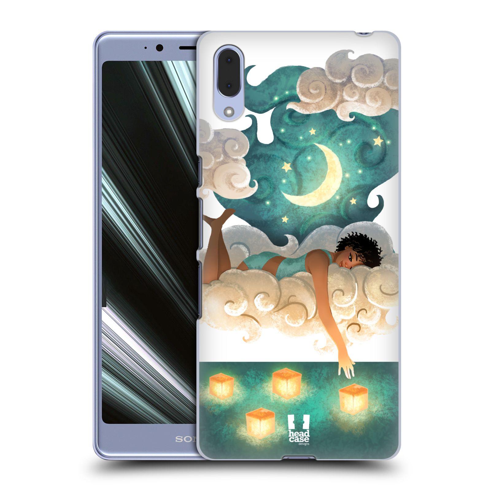 Pouzdro na mobil Sony Xperia L3 - HEAD CASE - měsíc a lucerny