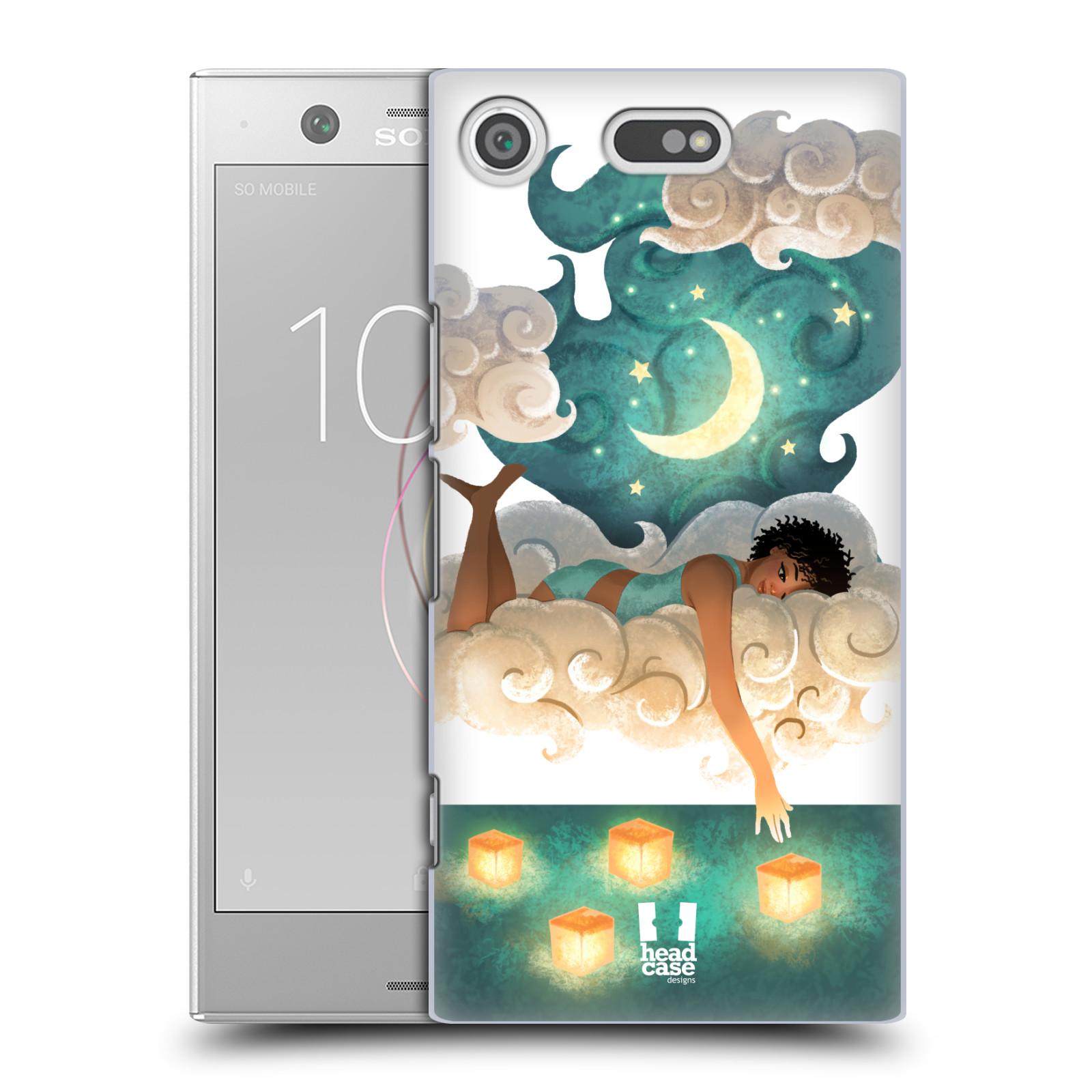 Pouzdro na mobil Sony Xperia XZ1 COMPACT - HEAD CASE - měsíc a lucerny
