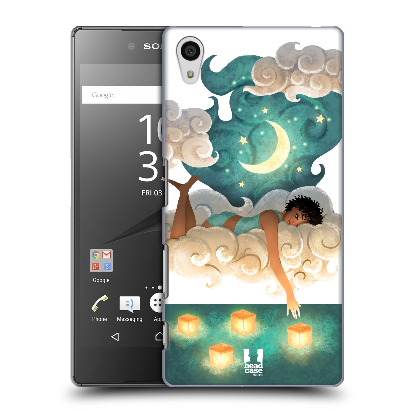Pouzdro na mobil Sony Xperia Z5 - HEAD CASE - měsíc a lucerny
